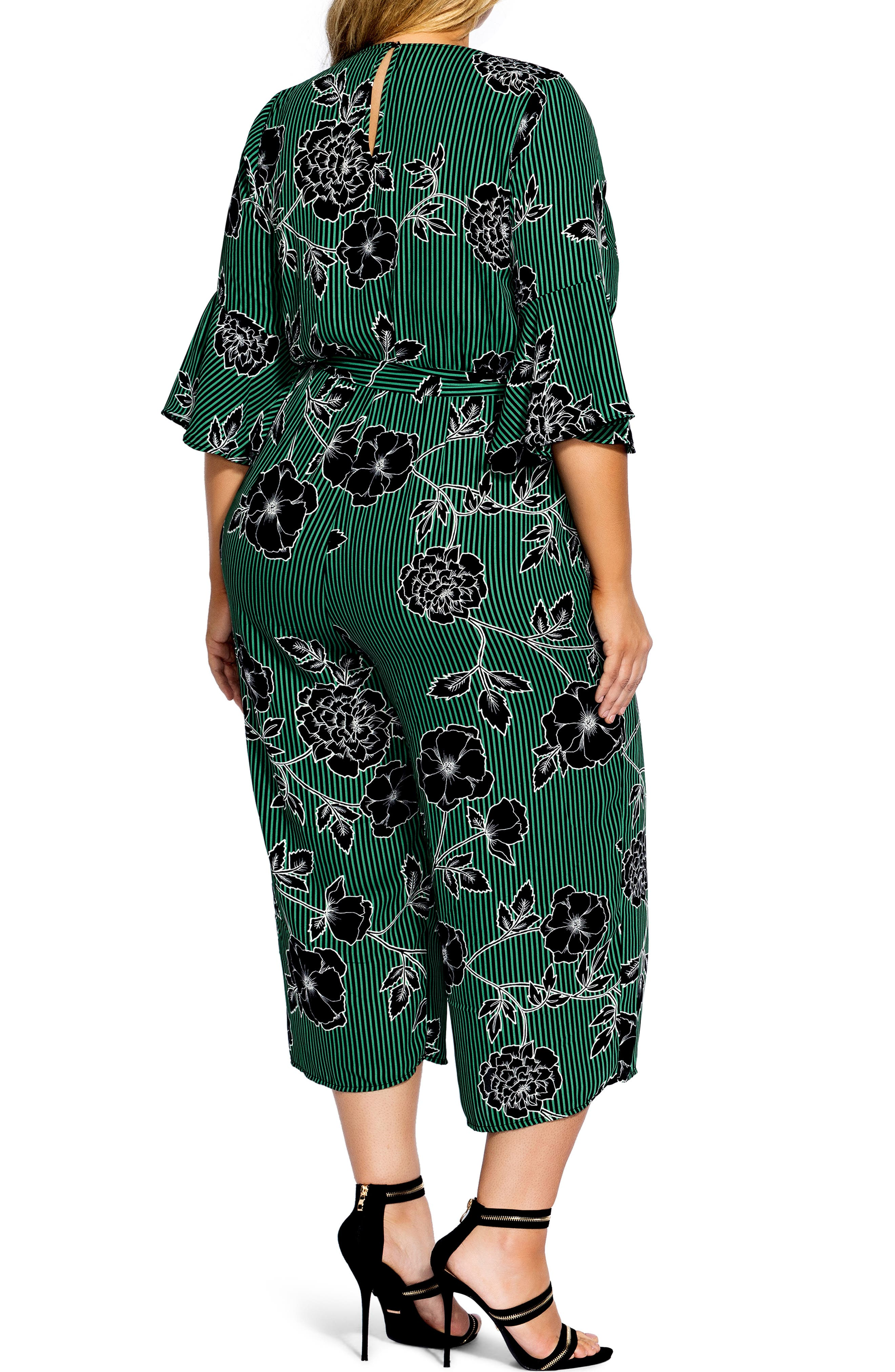 Floral Print Jumpsuit,                             Alternate thumbnail 9, color,                             VARSITY FLORAL