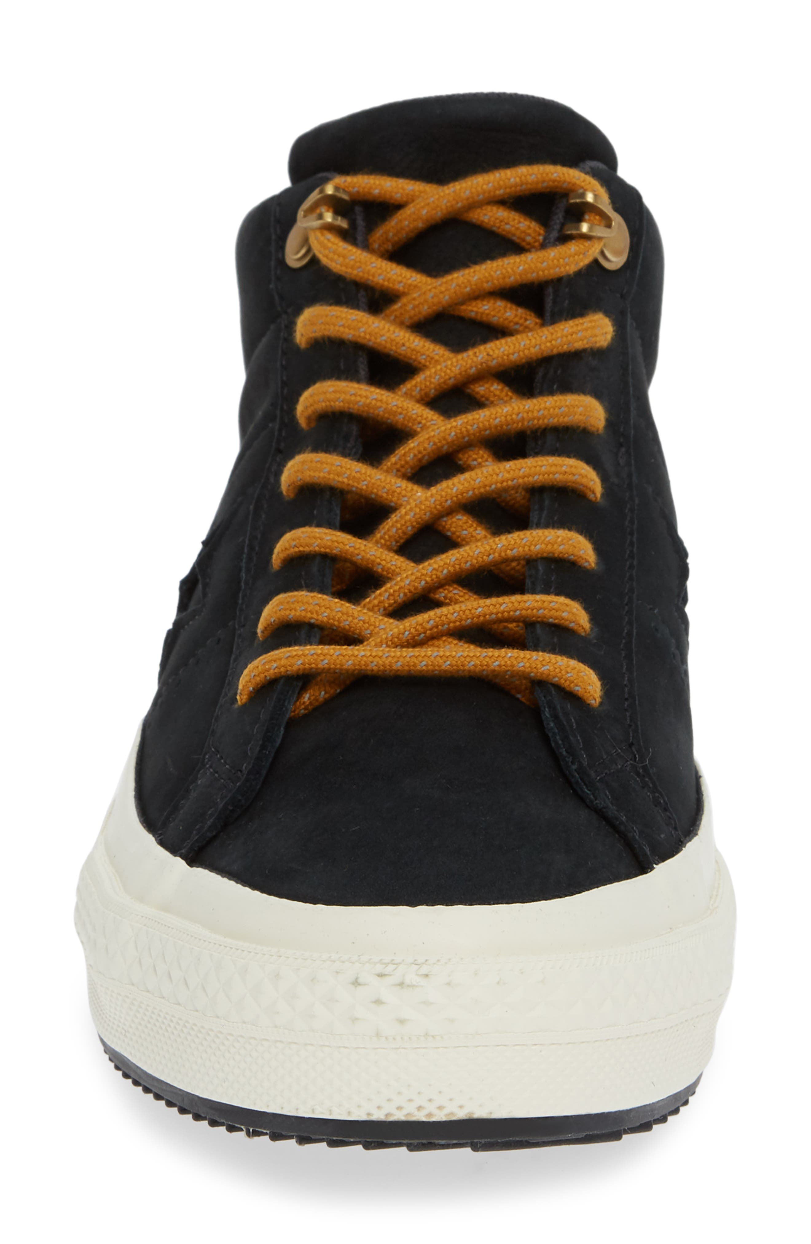 One Star Mid Counter Climate Scout Sneaker,                             Alternate thumbnail 4, color,                             BLACK/ BLUE HERO/ TEAK SUEDE