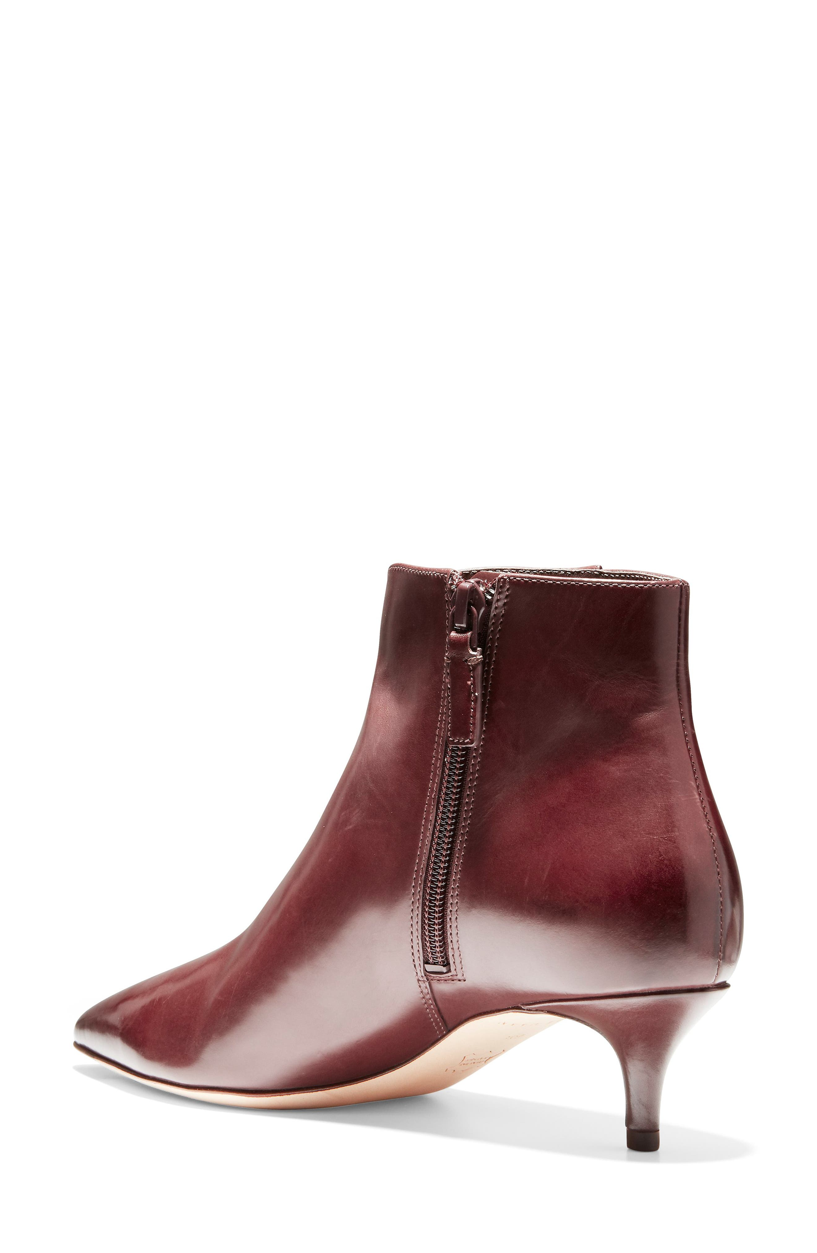 Vesta Bootie,                             Alternate thumbnail 2, color,                             CORDOVAN LEATHER