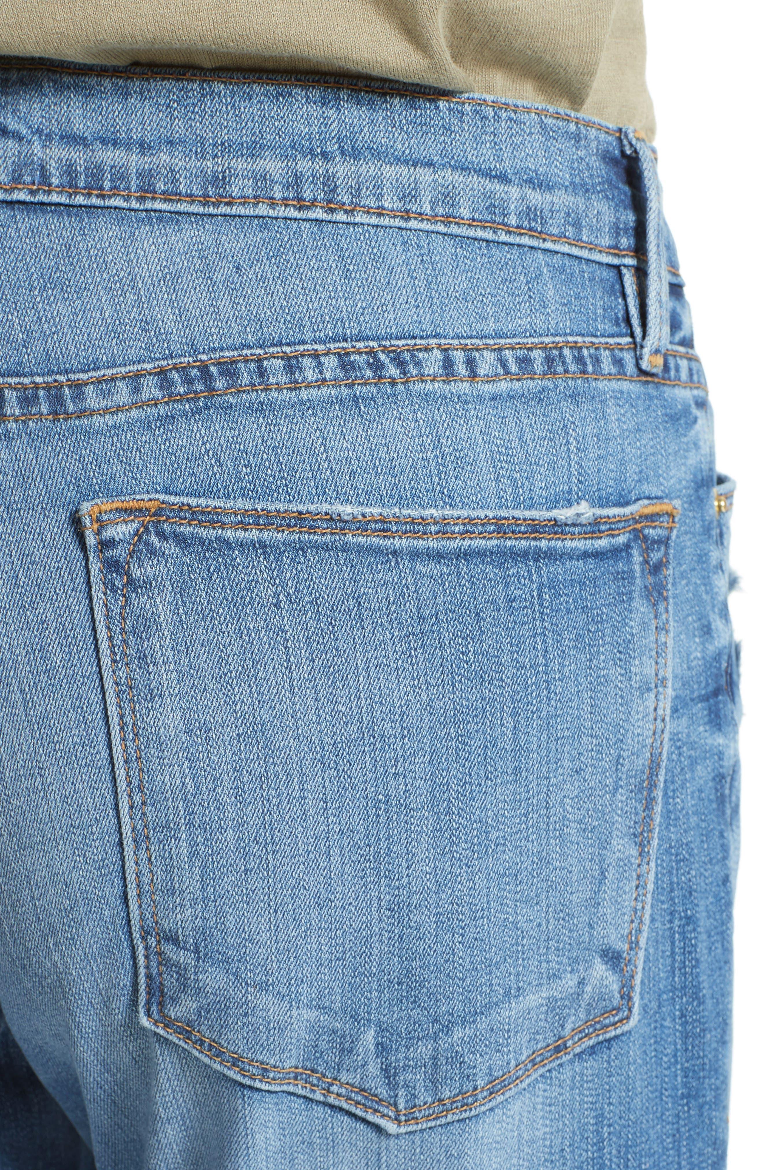 Le High Skinny Cascade Hem Jeans,                             Alternate thumbnail 4, color,                             420
