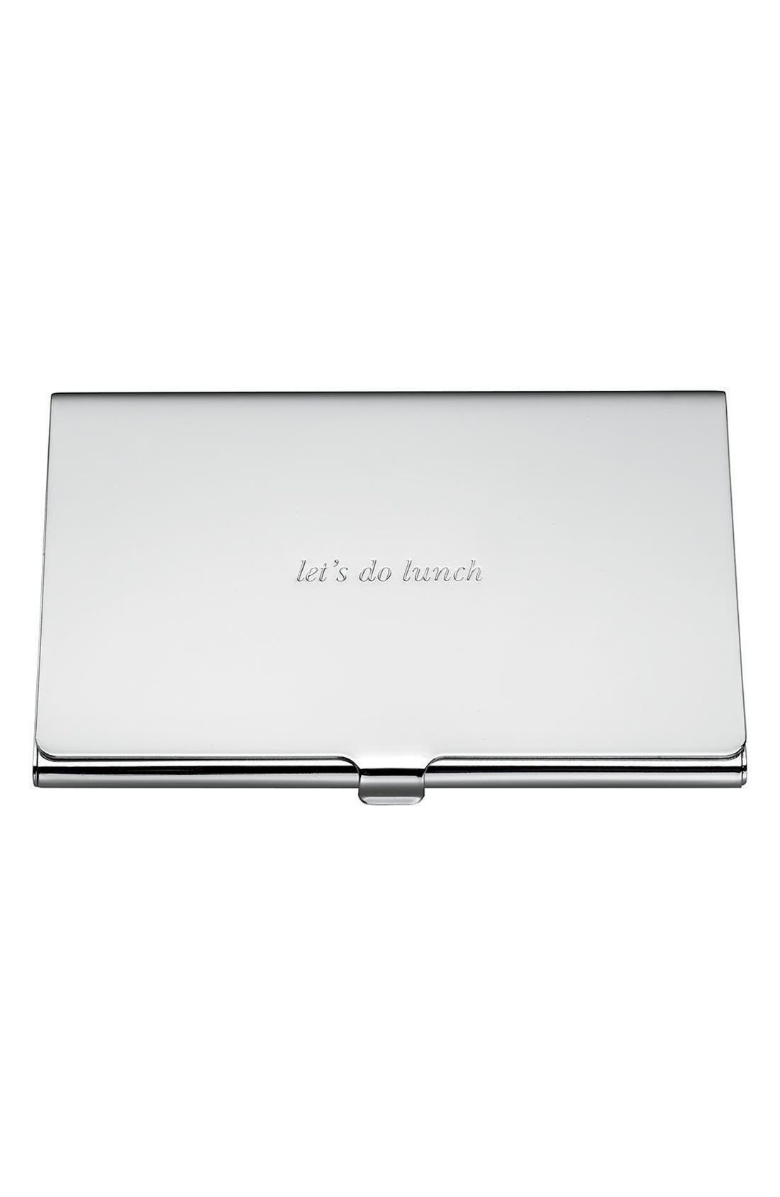 let's do lunch business card holder,                         Main,                         color, SILVER