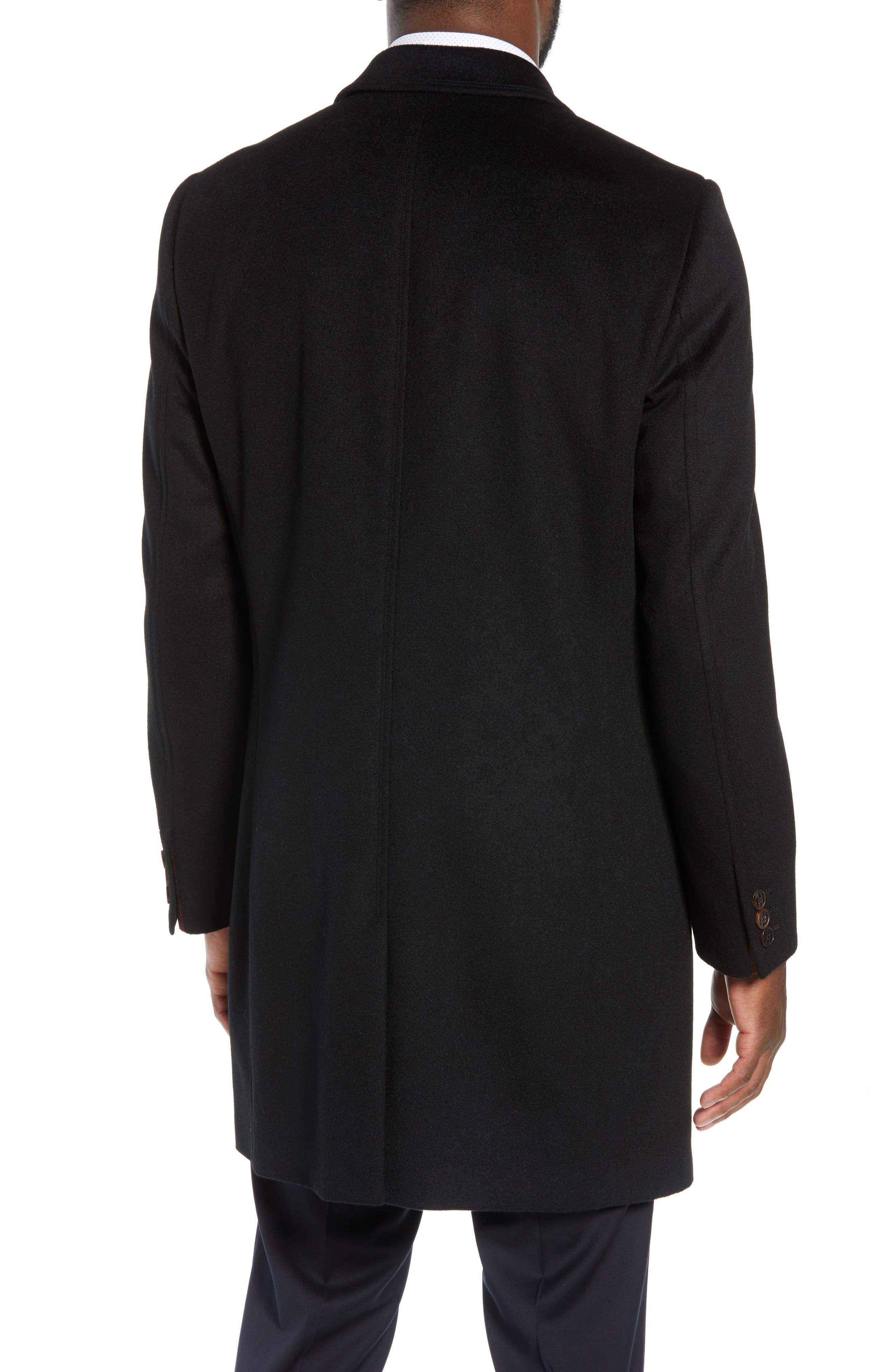 Swish Wool & Cashmere Overcoat,                             Alternate thumbnail 2, color,                             001