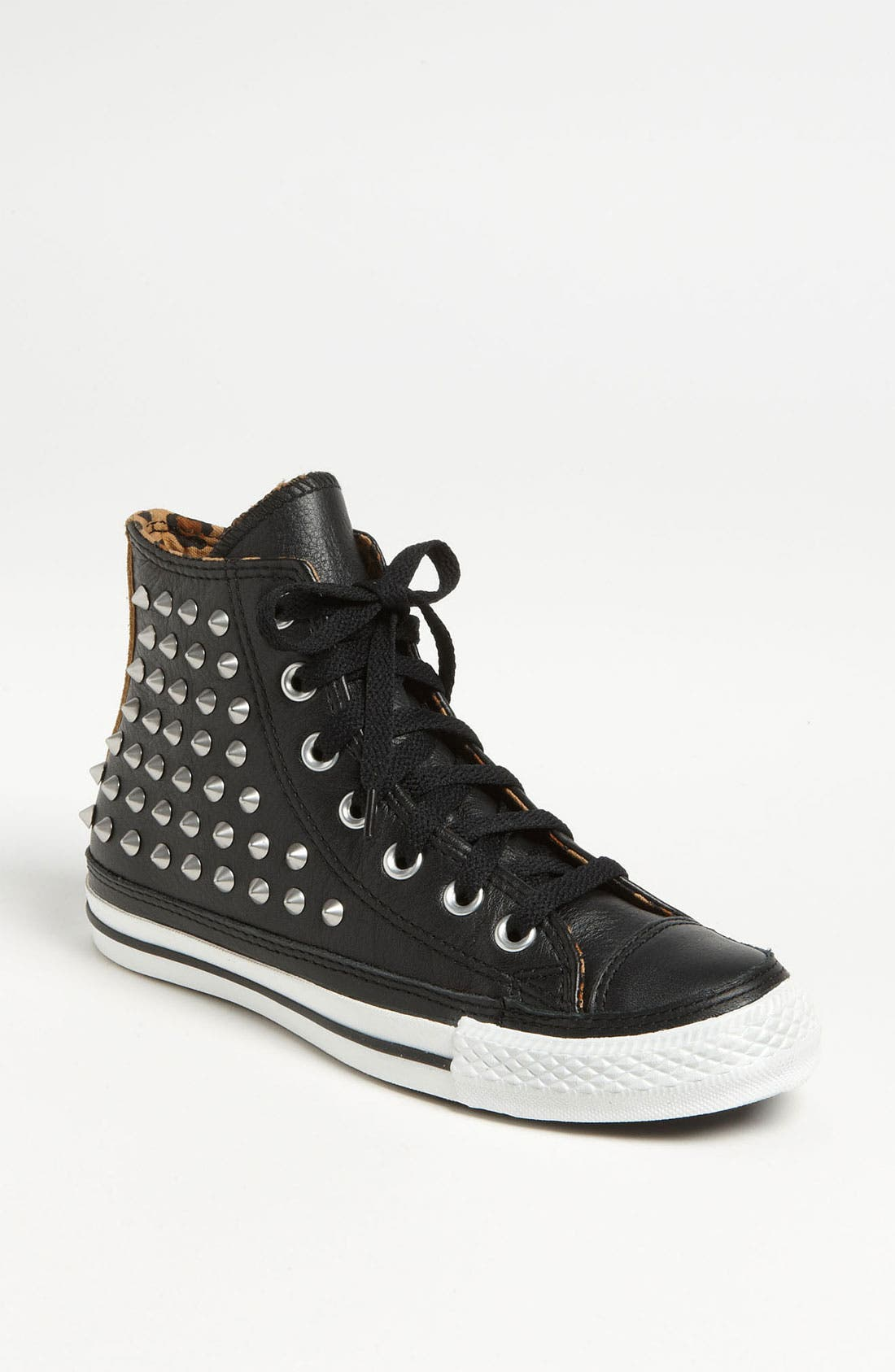 Chuck Taylor<sup>®</sup> All Star<sup>®</sup> Studded High Top Sneaker,                             Main thumbnail 1, color,                             001