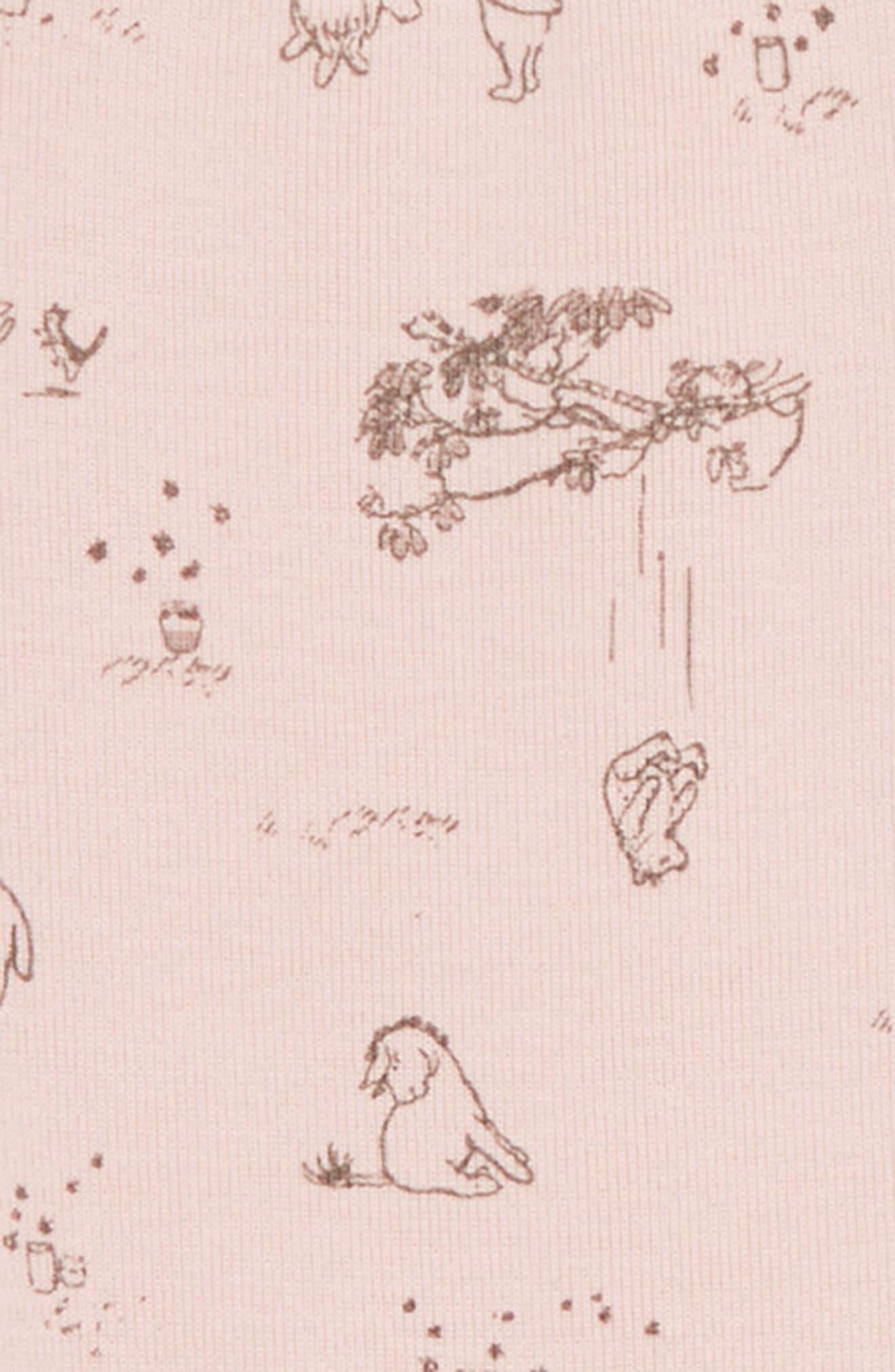 x Disney<sup>®</sup> Winnie the Pooh Organic Cotton Bodysuit,                             Alternate thumbnail 2, color,                             653