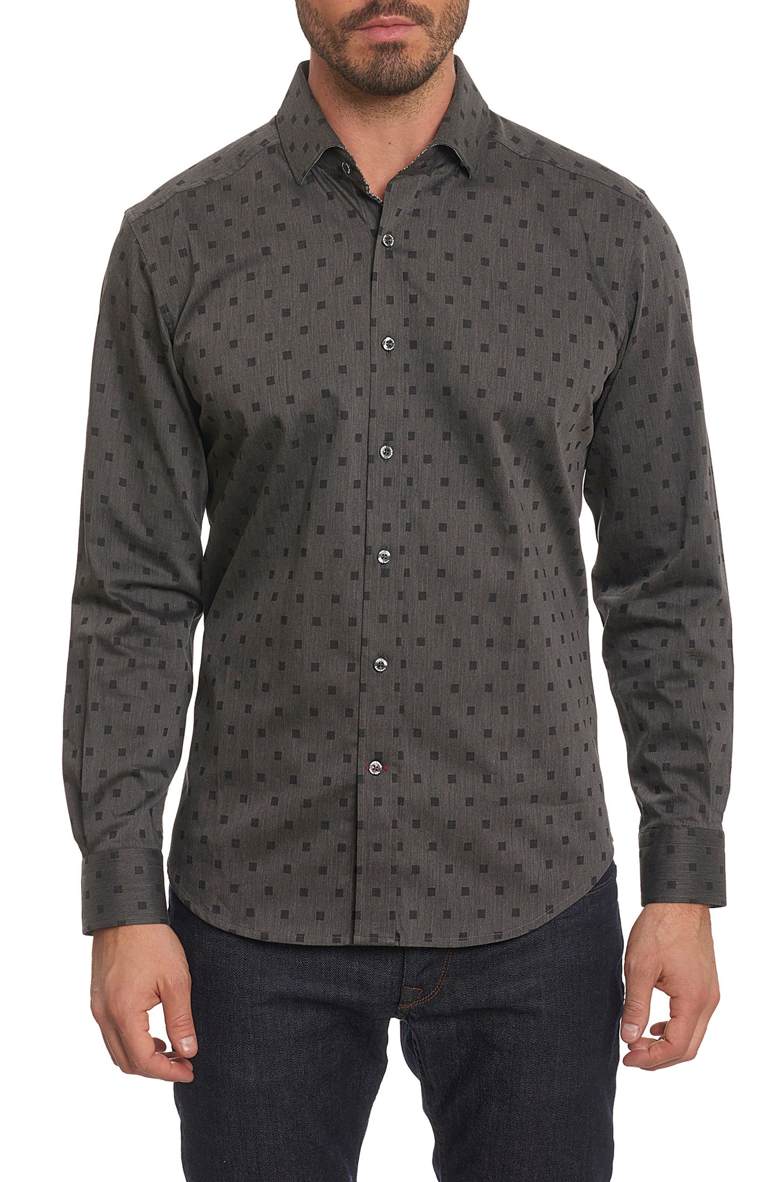 Gabe Tailored Fit Sport Shirt,                         Main,                         color, 001