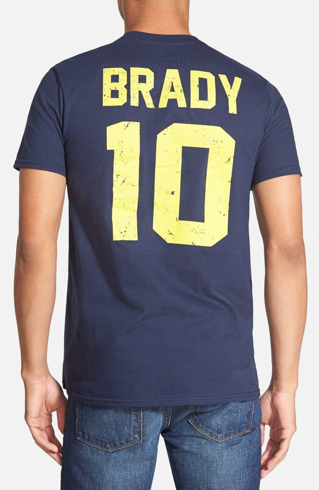 RETRO BRAND,                             'Michigan Wolverines - Tom Brady' Graphic T-Shirt,                             Alternate thumbnail 3, color,                             457