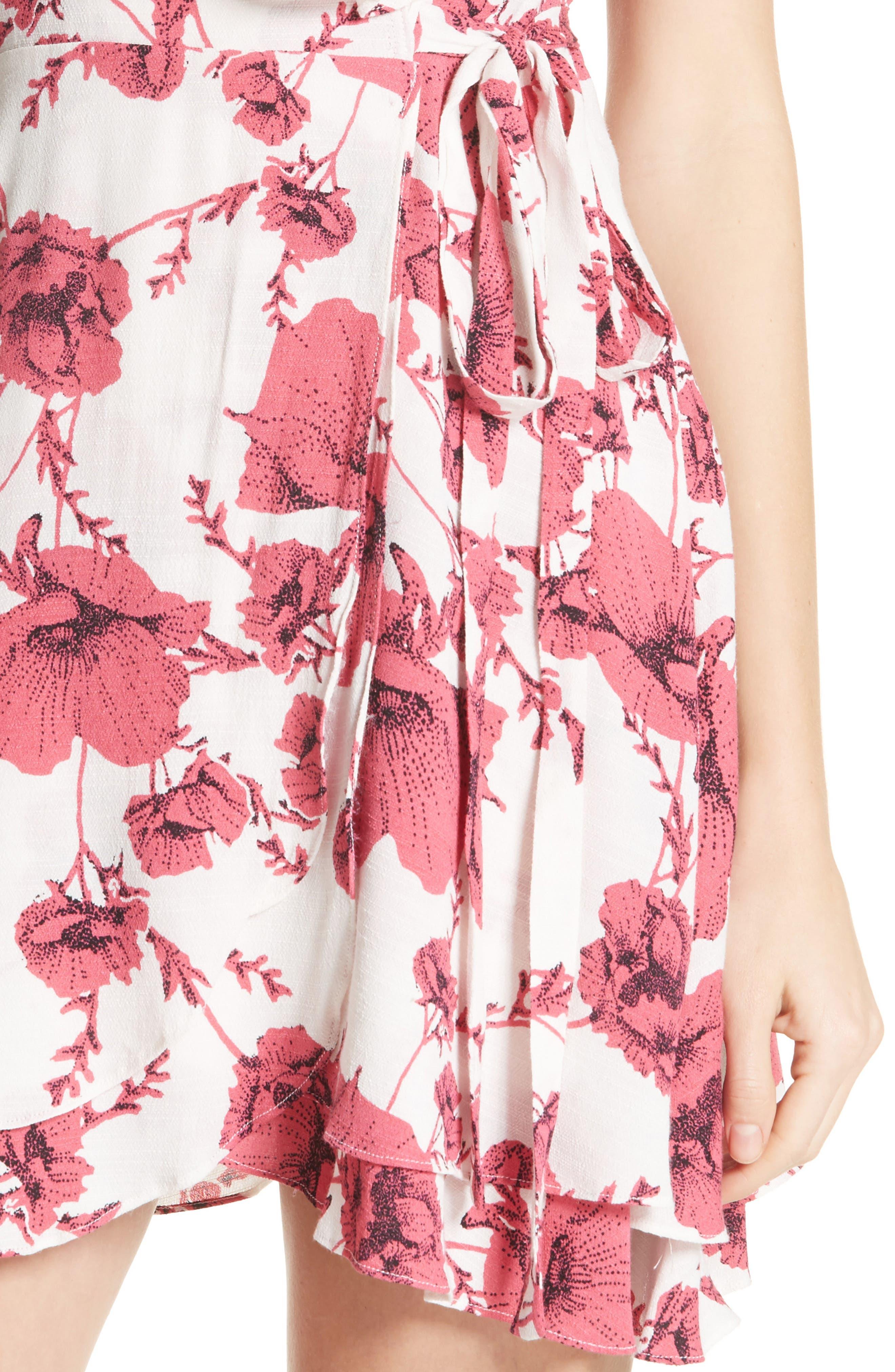 French Quarter Print Wrap Minidress,                             Alternate thumbnail 16, color,