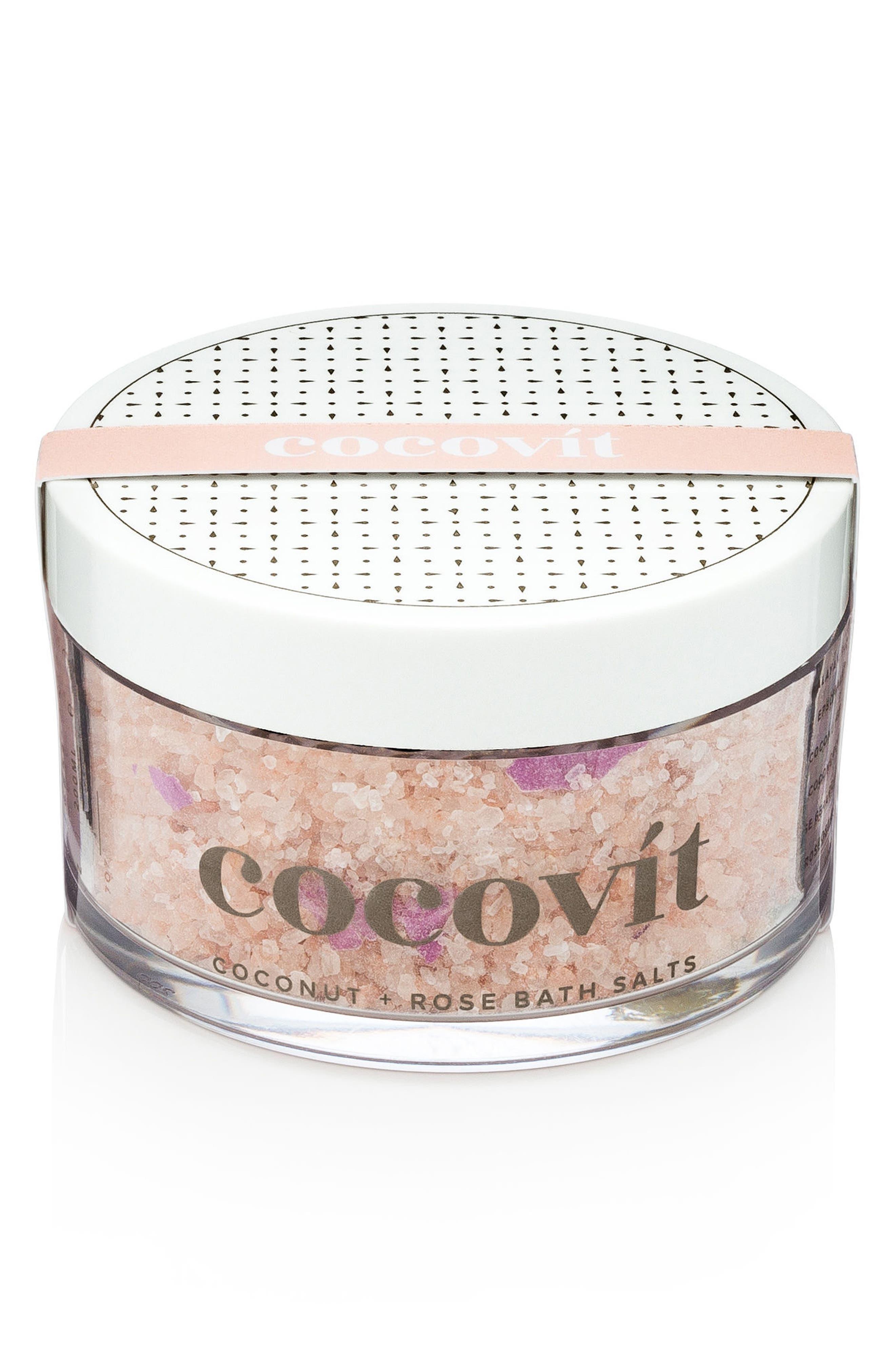 Coconut + Rose Bath Salts,                             Main thumbnail 1, color,                             000