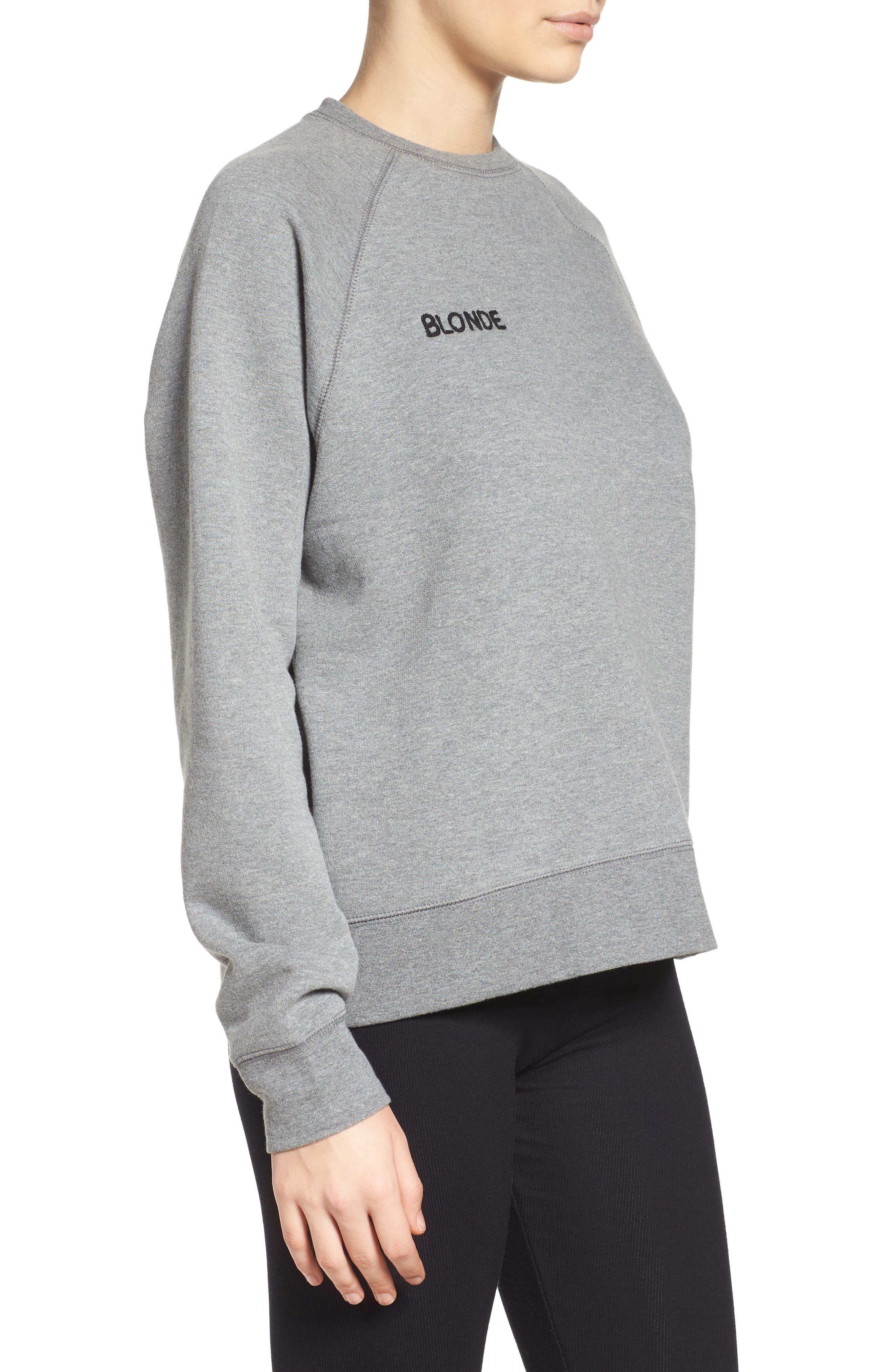 Blonde Crewneck Sweatshirt,                             Alternate thumbnail 3, color,                             030