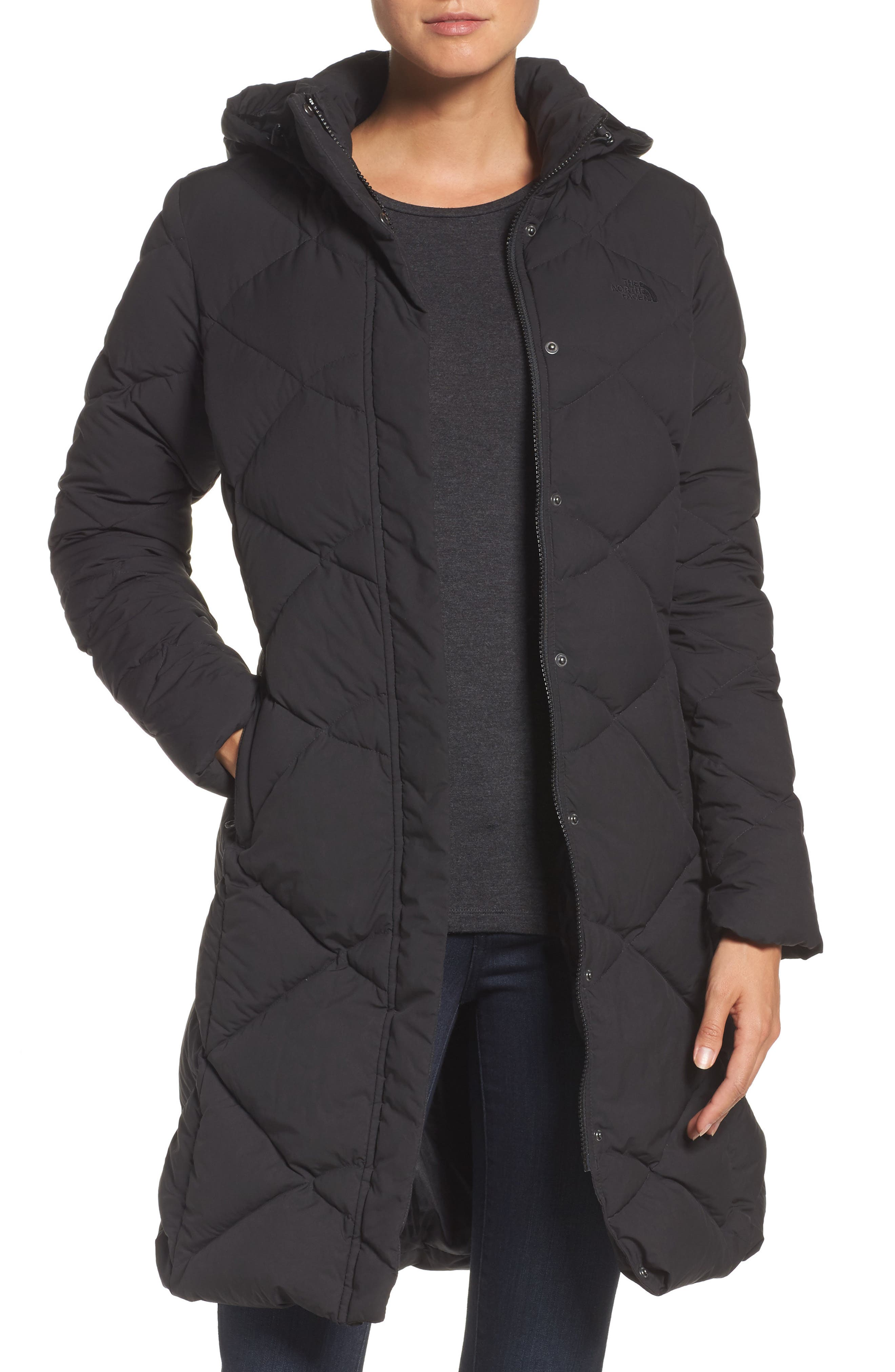 'Miss Metro' Hooded Parka, Main, color, 002