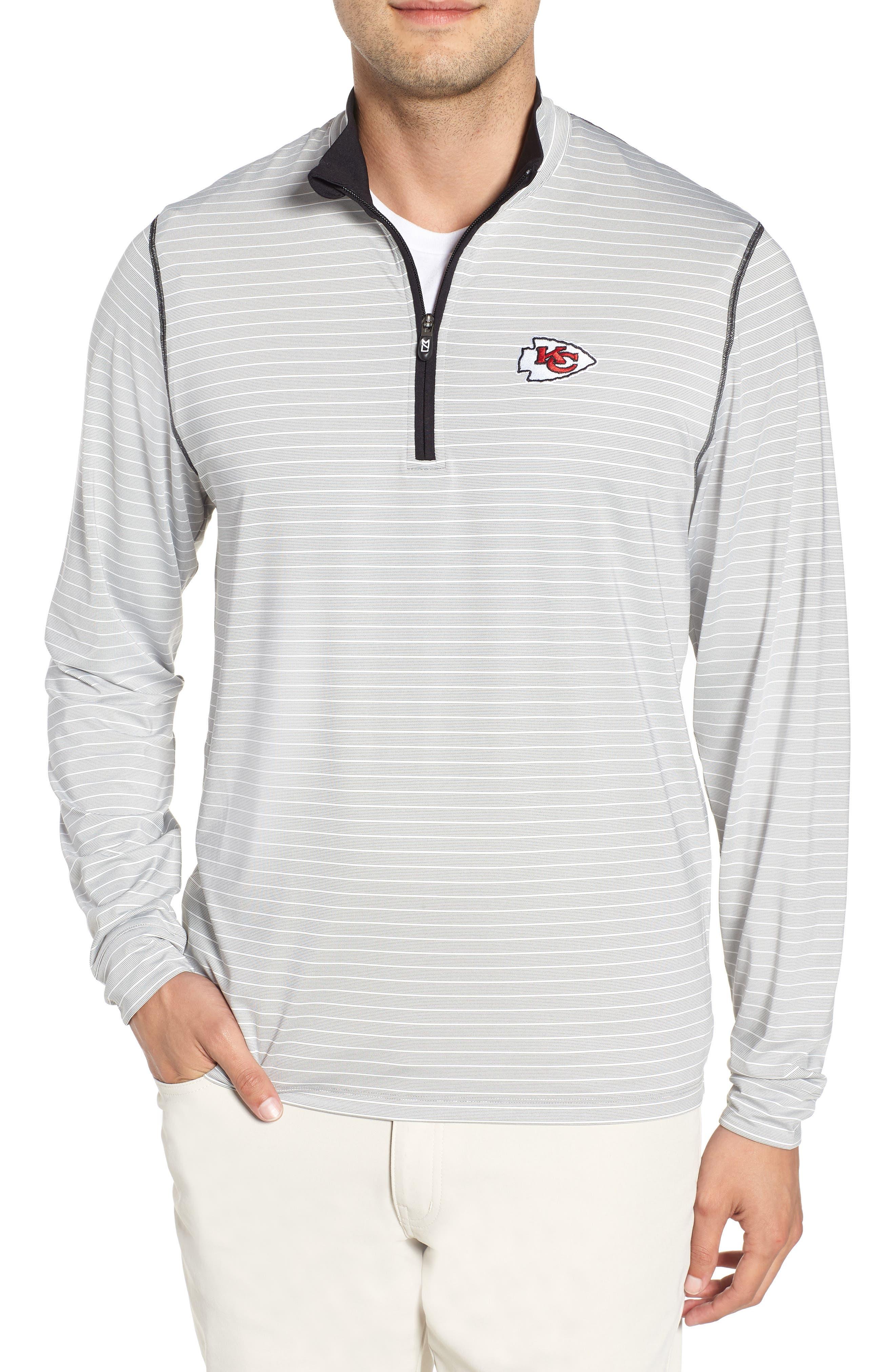 Meridian - Kansas City Chiefs Regular Fit Half Zip Pullover,                             Main thumbnail 1, color,                             BLACK