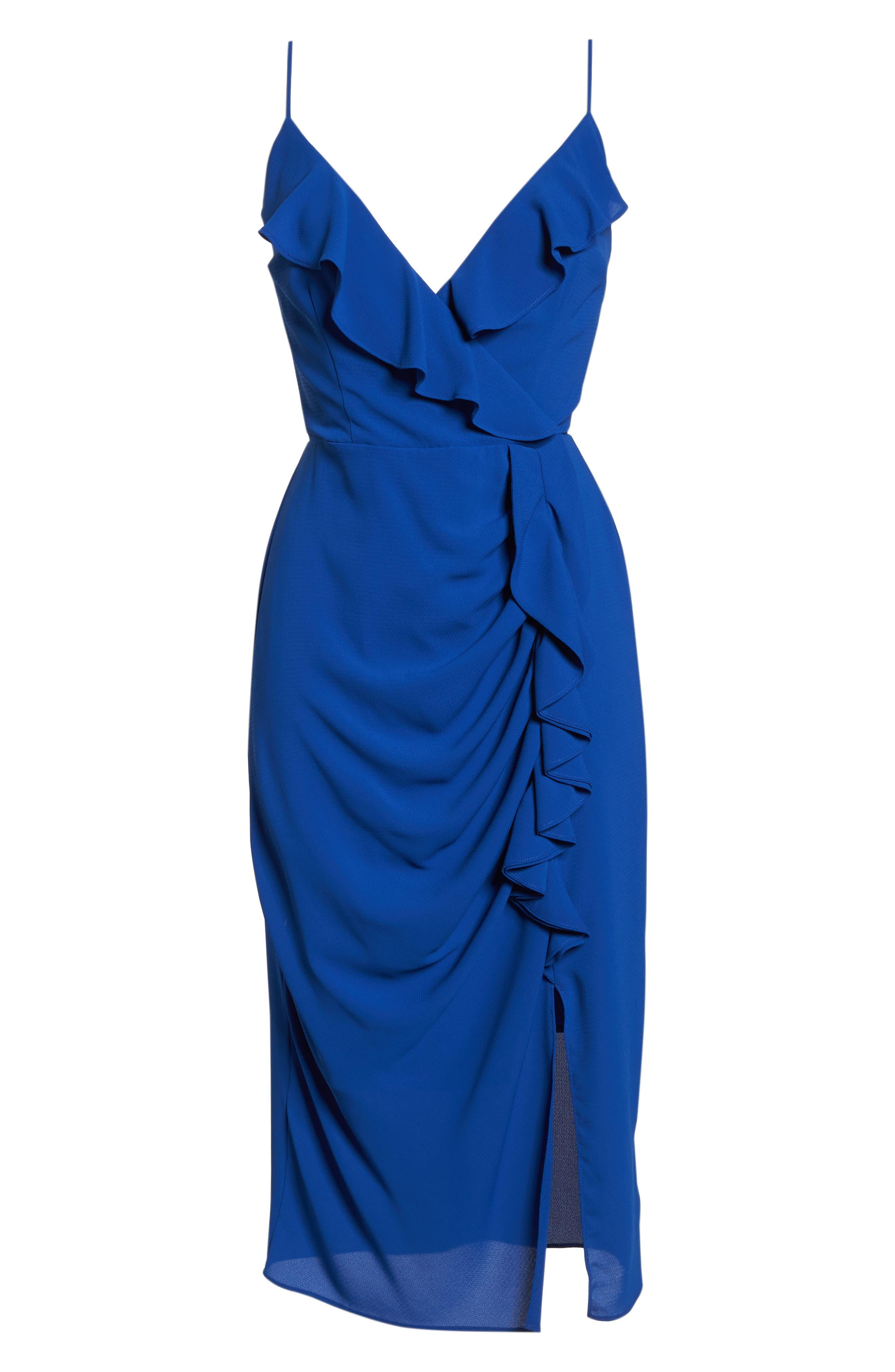 Camilla Frill Sheath Dress,                             Alternate thumbnail 7, color,                             460