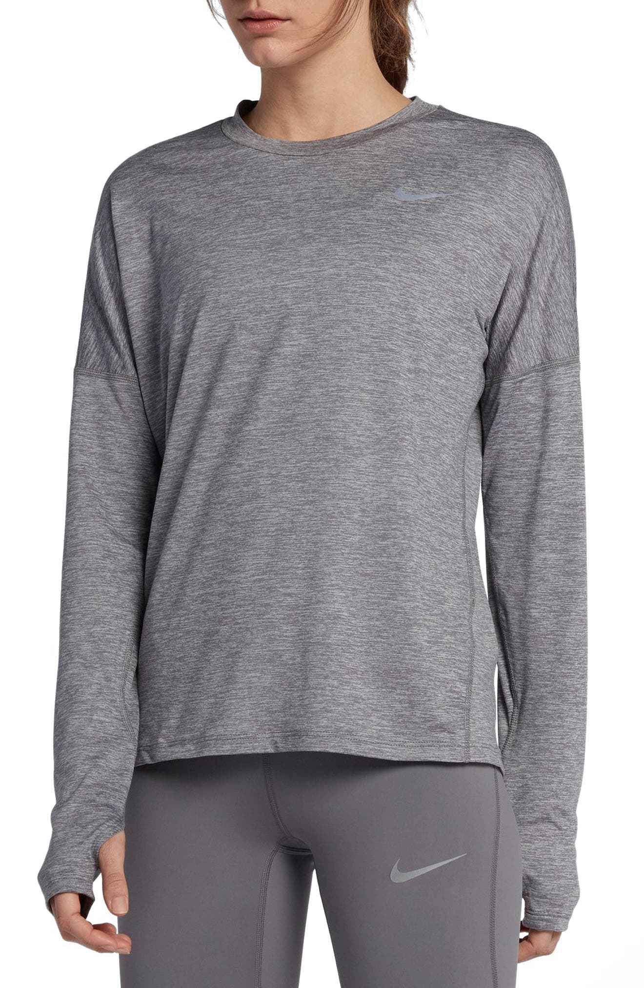NIKE,                             Dry Element Long Sleeve Top,                             Main thumbnail 1, color,                             036