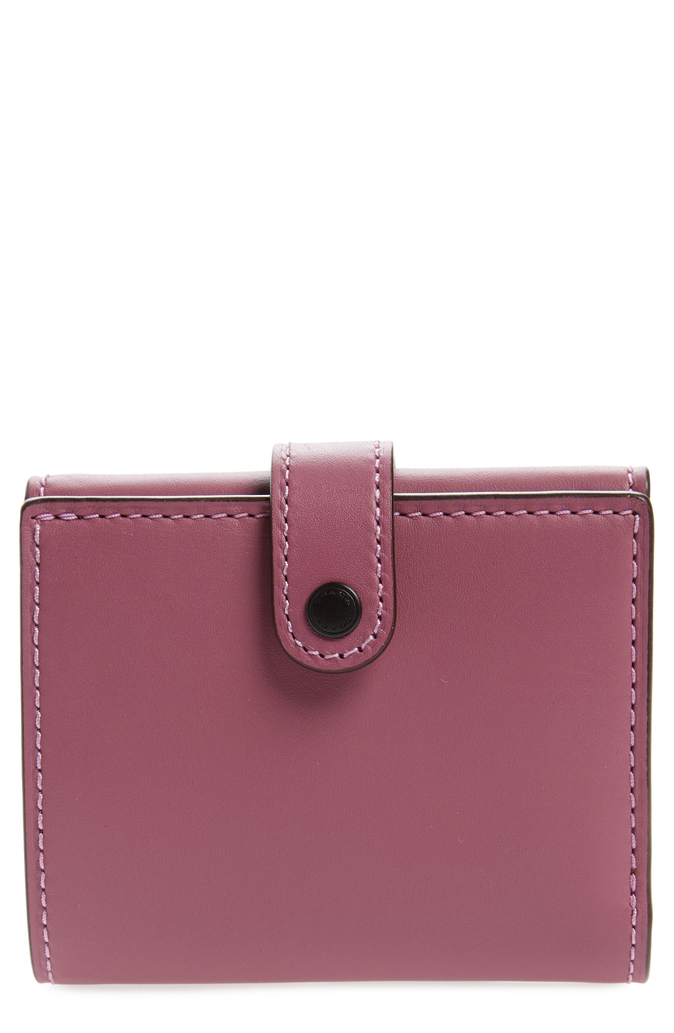 Small Leather Trifold Wallet,                             Main thumbnail 2, color,