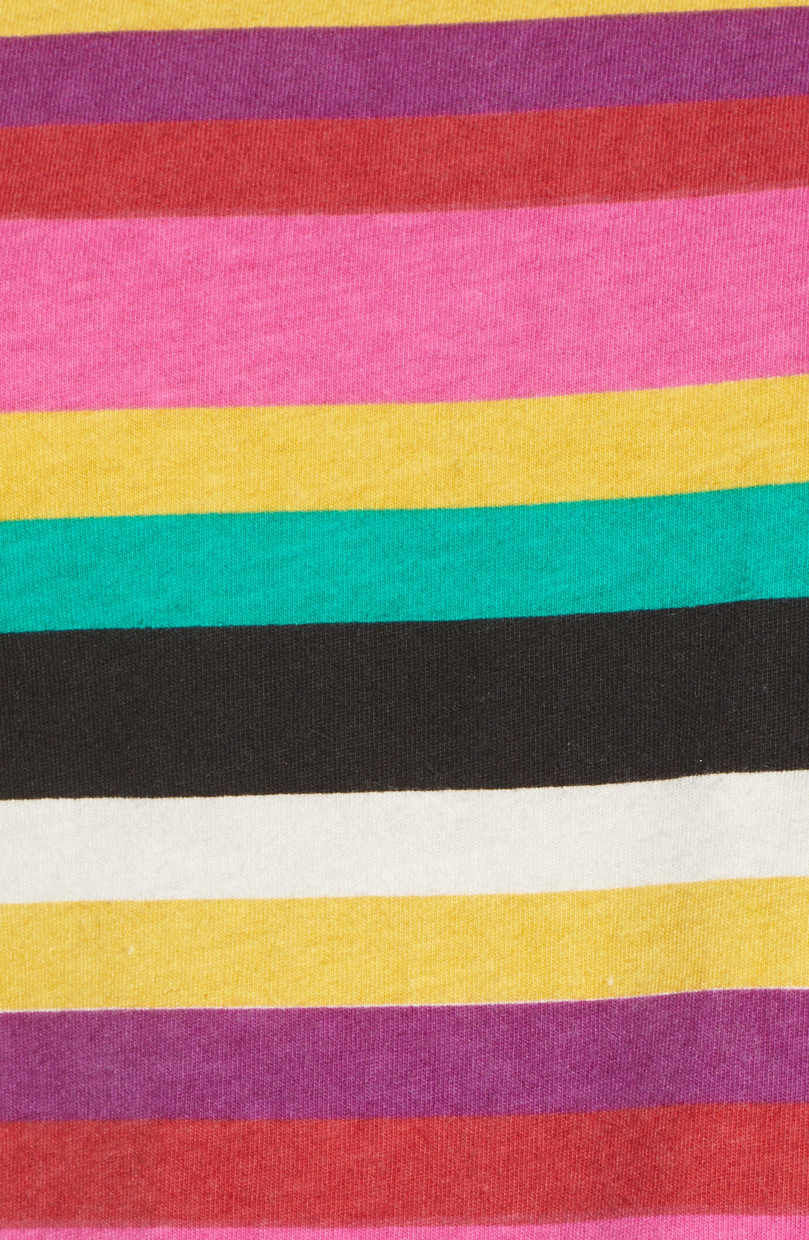 Rainbow Stripe Tee,                             Alternate thumbnail 5, color,                             MULTICOLOR