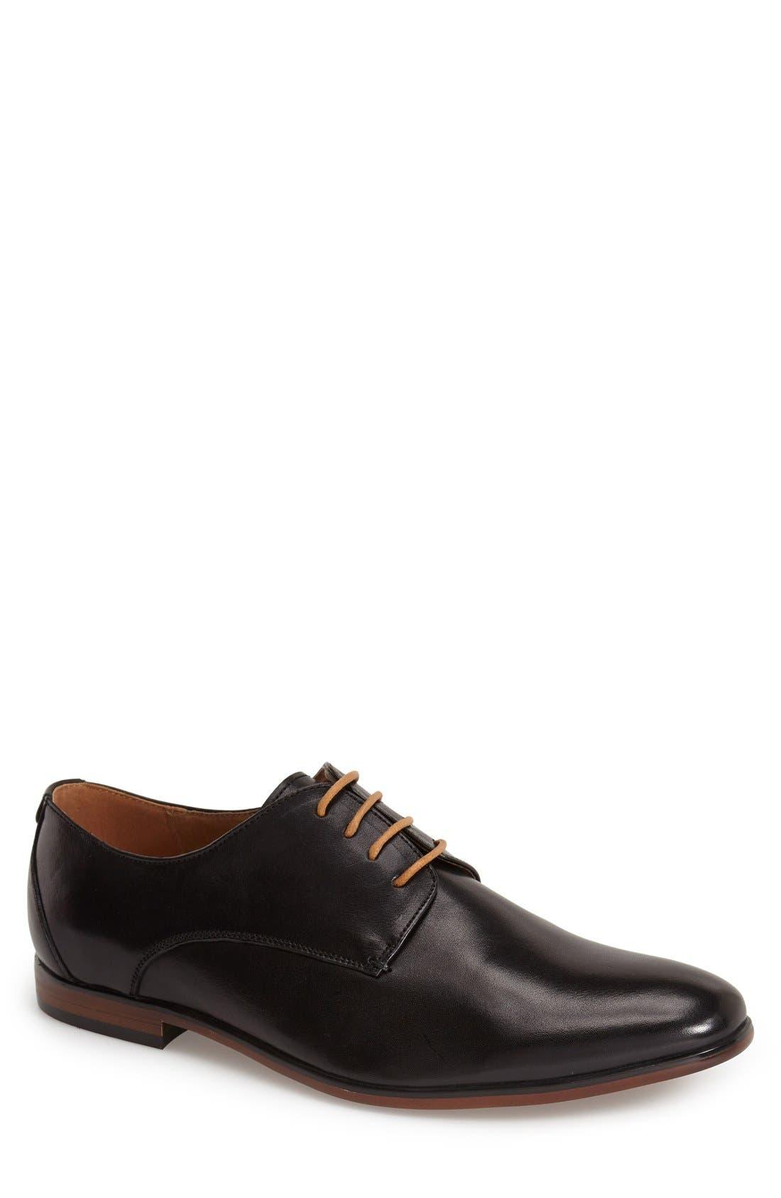 'Trotter' Plain Toe Derby, Main, color, 001