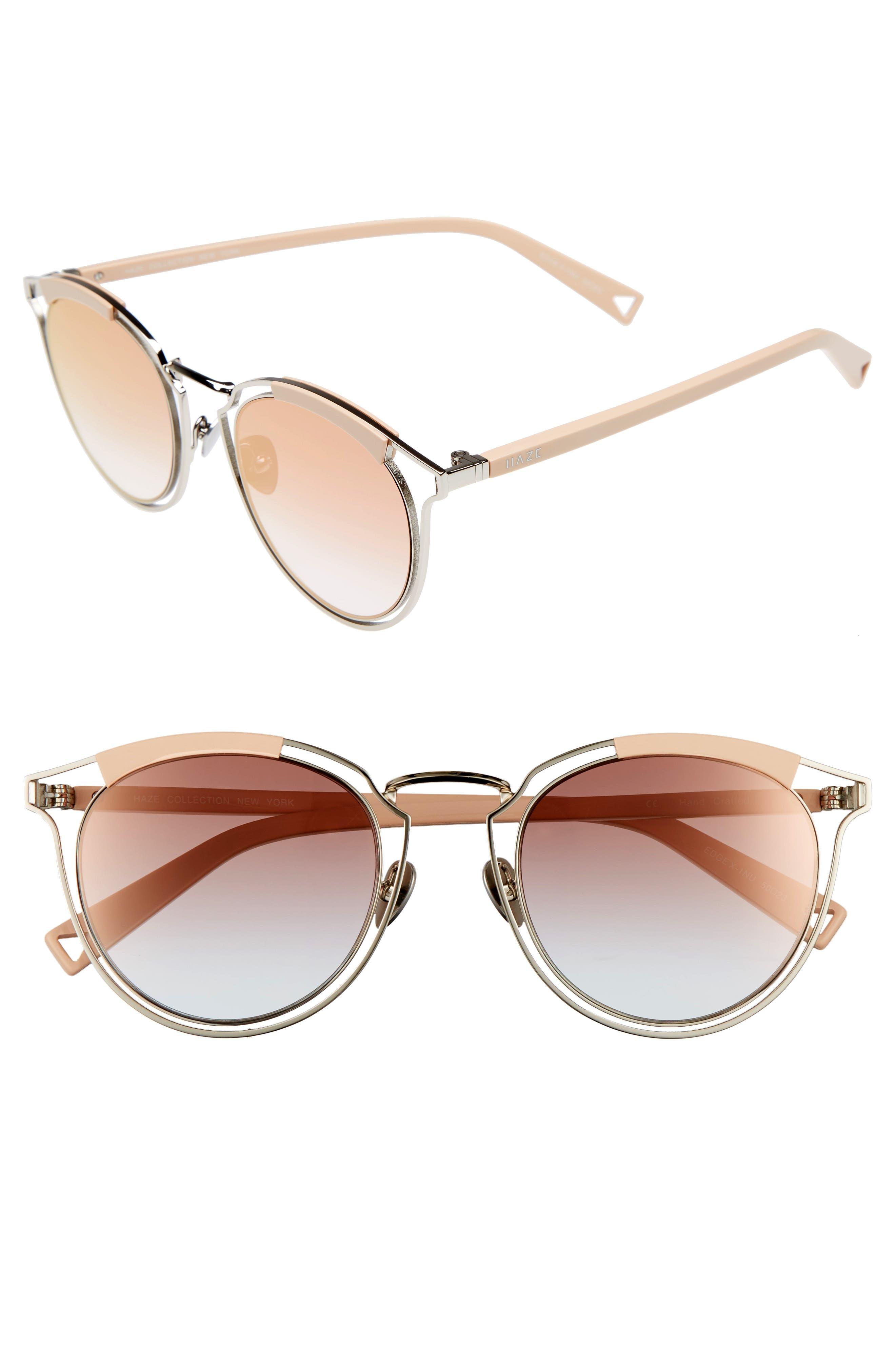 Edge X 50mm Modified Round Sunglasses,                             Main thumbnail 1, color,                             040