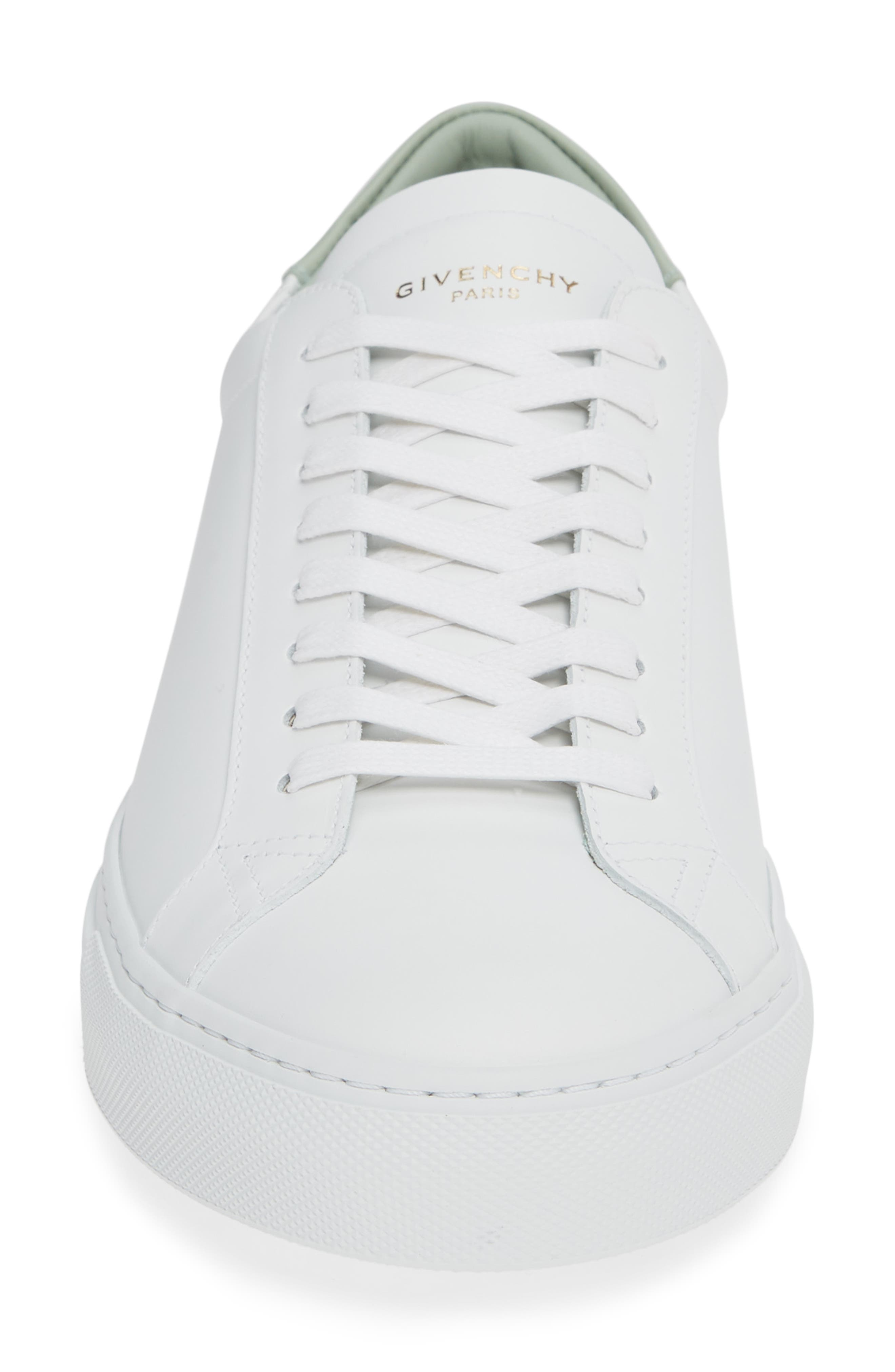 'Urban Knots Lo' Sneaker,                             Alternate thumbnail 4, color,                             WHITE/ GREEN