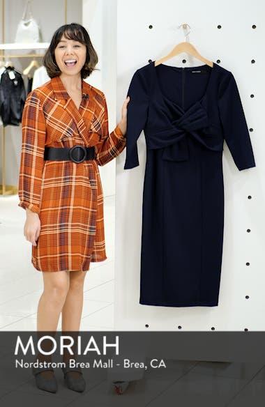 Bow Twist Scuba Crepe Dress, sales video thumbnail