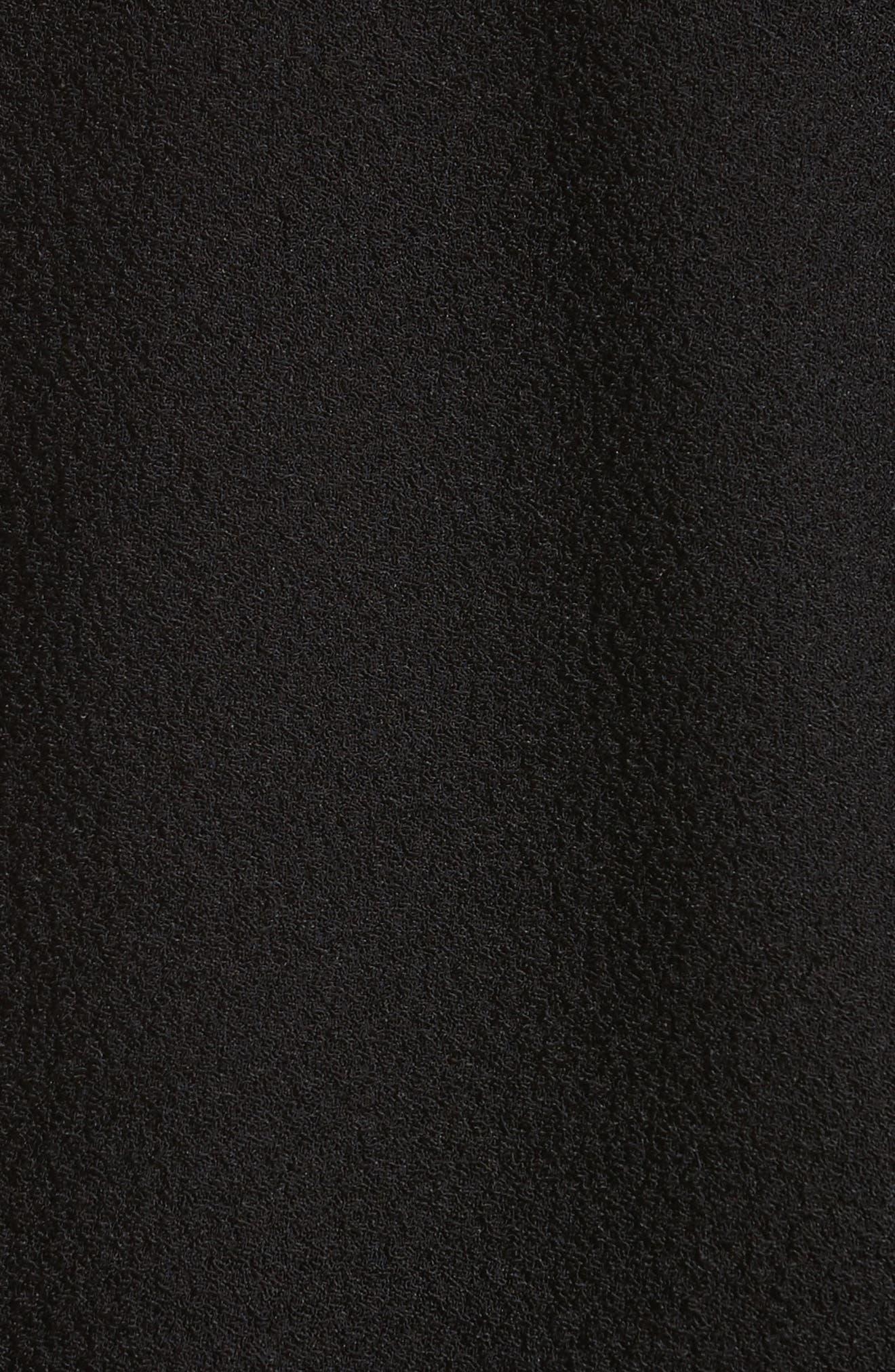 Sofie Puff Sleeve Crepe Blouse,                             Alternate thumbnail 5, color,                             001