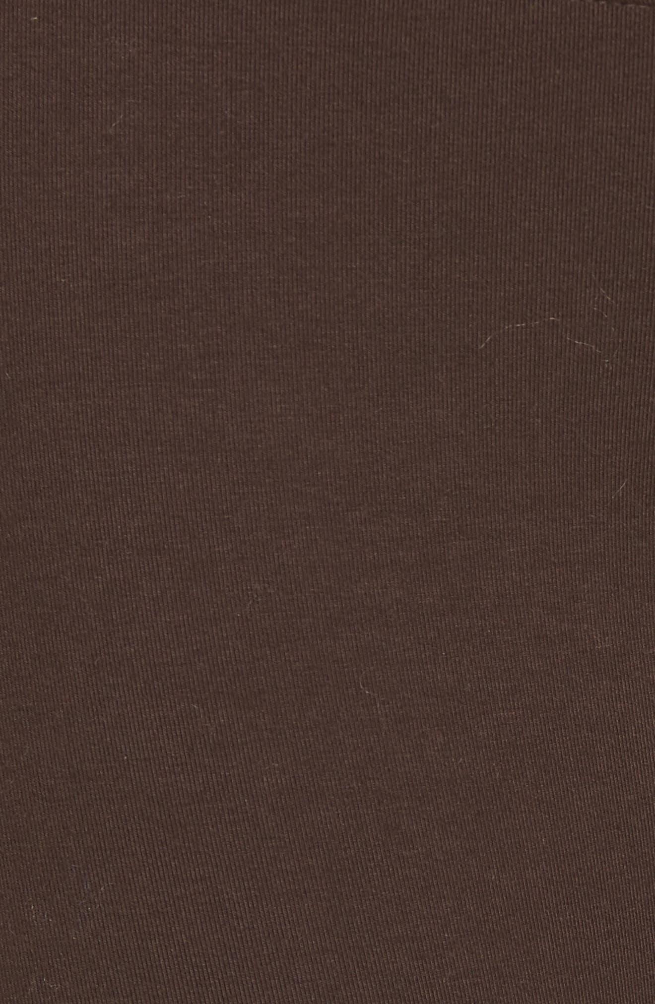 'Rachel' High Waist Leggings,                             Alternate thumbnail 5, color,                             CHOCOLATE TORTE