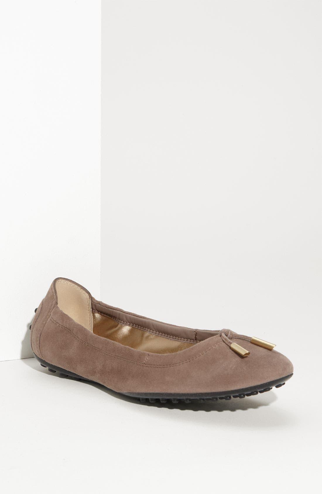 Bow Trim Patent Leather Flat,                             Main thumbnail 3, color,