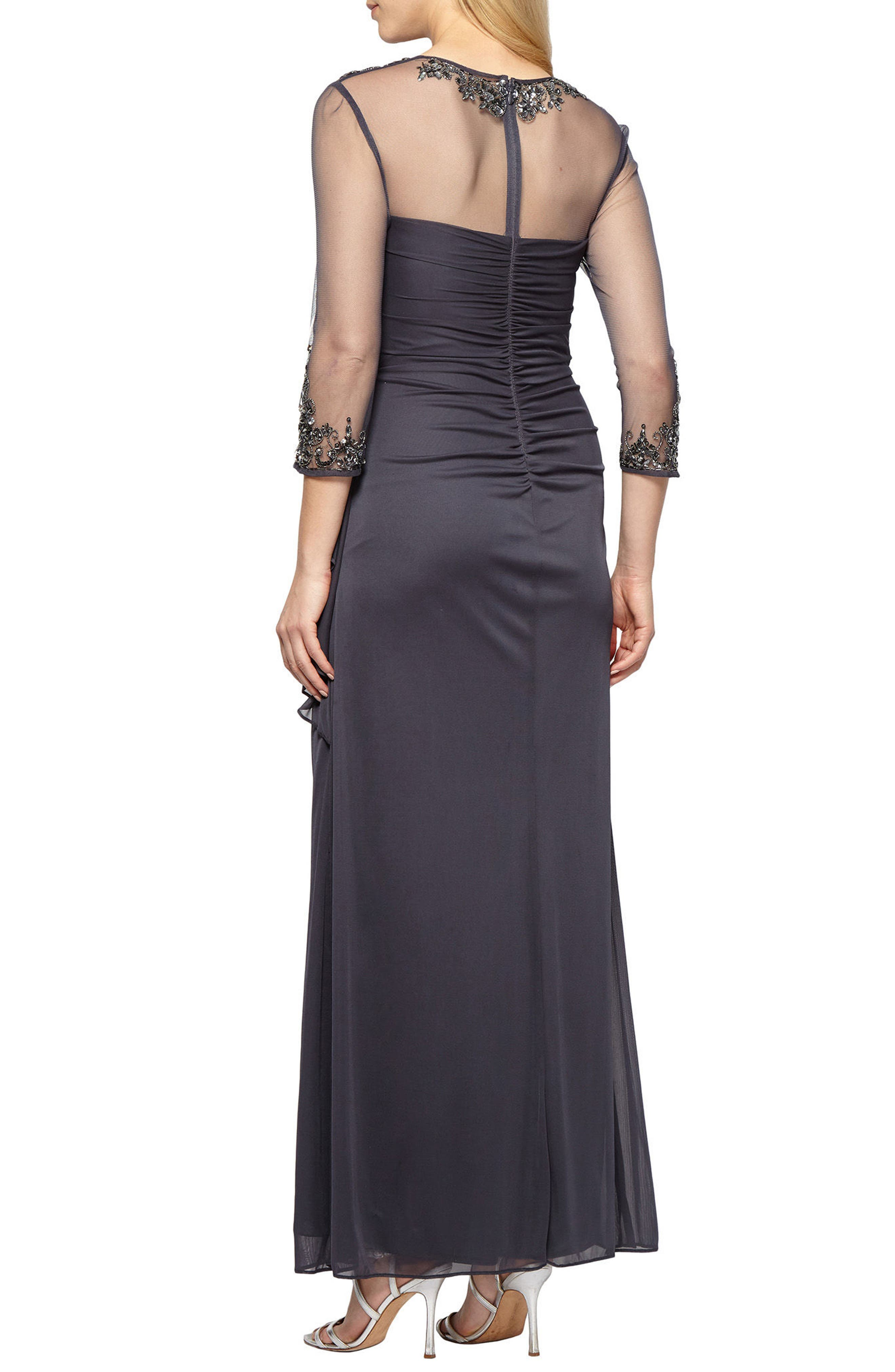 Embellished A-Line Gown,                             Alternate thumbnail 2, color,                             022