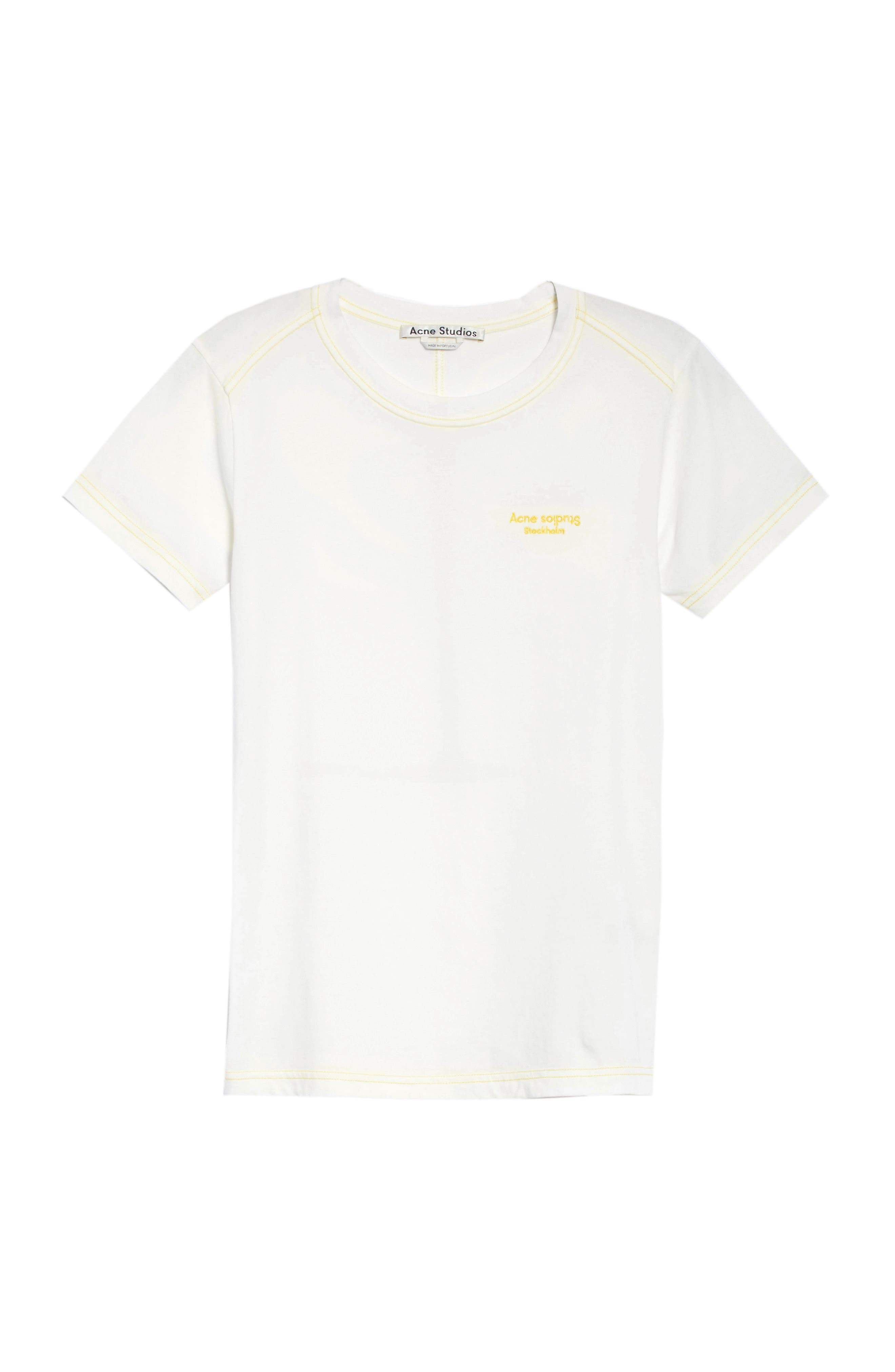Logo Embroidered Tee,                             Alternate thumbnail 6, color,                             100