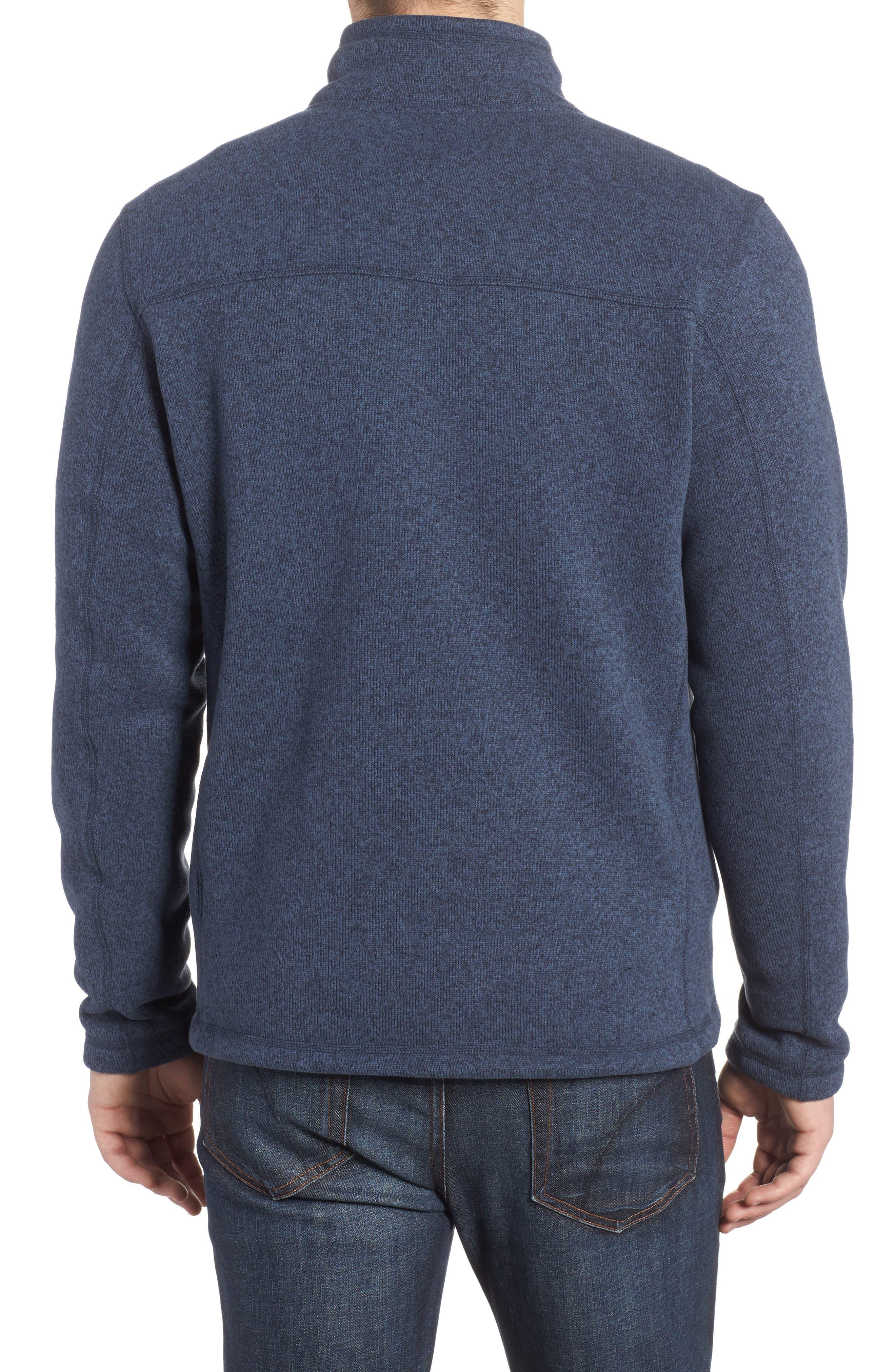 Gordon Lyons Quarter-Zip Fleece Jacket,                             Alternate thumbnail 2, color,                             URBAN NAVY HEATHER