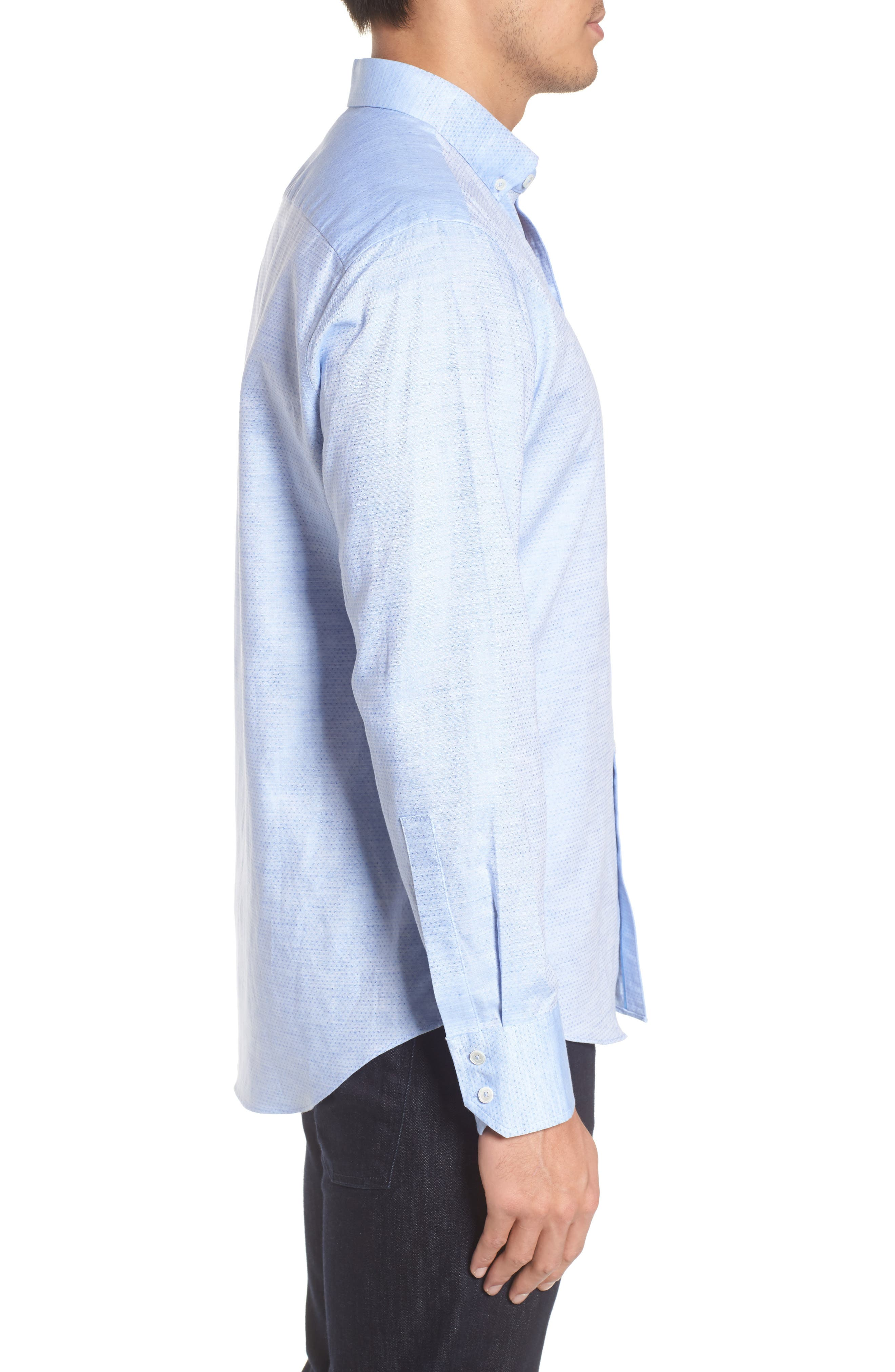 Gomis Regular Fit Dobby Sport Shirt,                             Alternate thumbnail 3, color,                             450