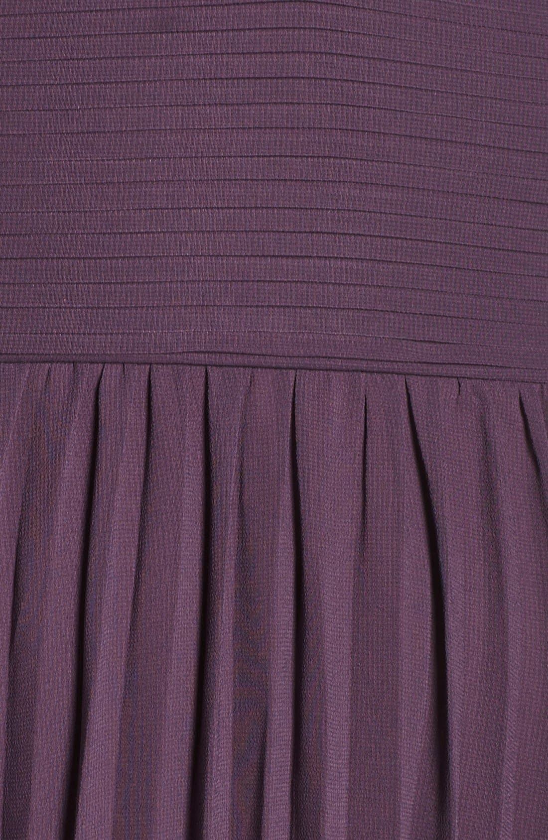 Plunging V-Neck Pleat Georgette Gown,                             Alternate thumbnail 25, color,
