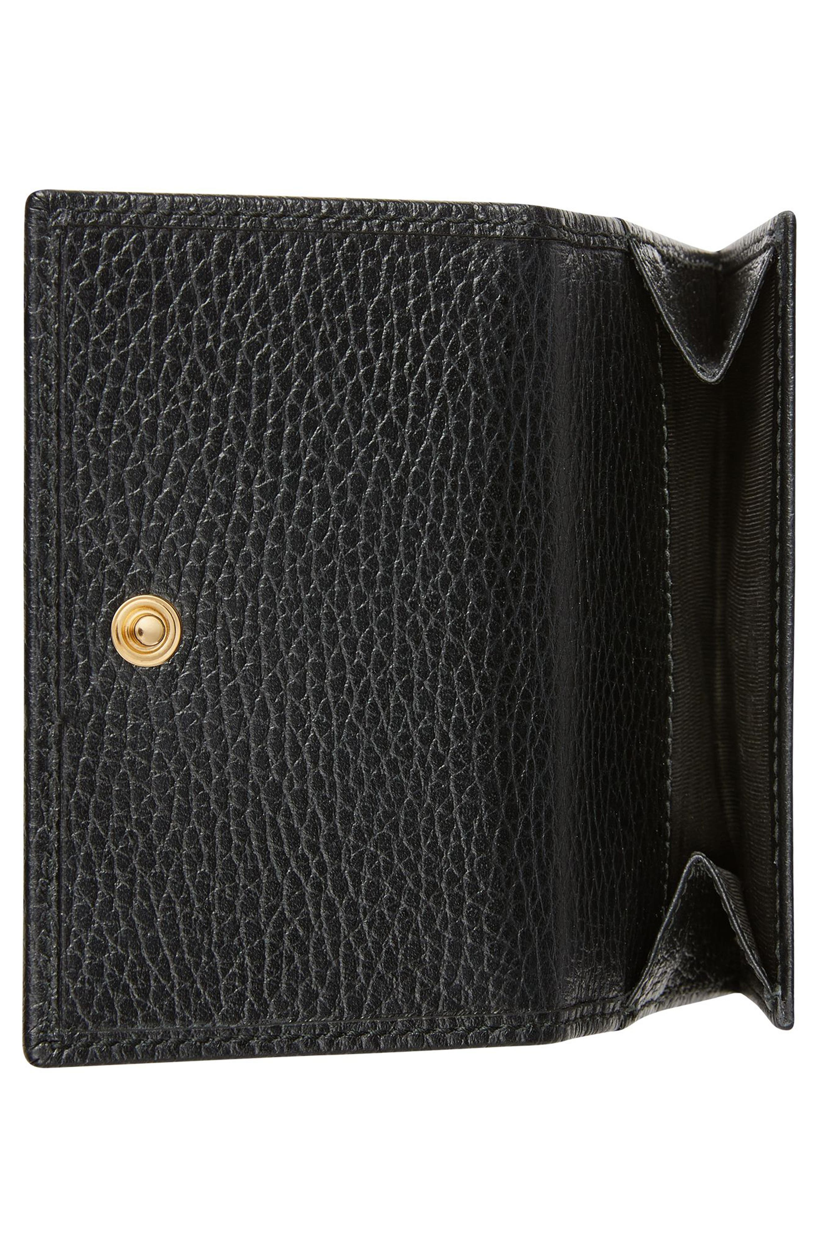 Petite Marmont Leather French Wallet,                             Alternate thumbnail 2, color,                             NERO