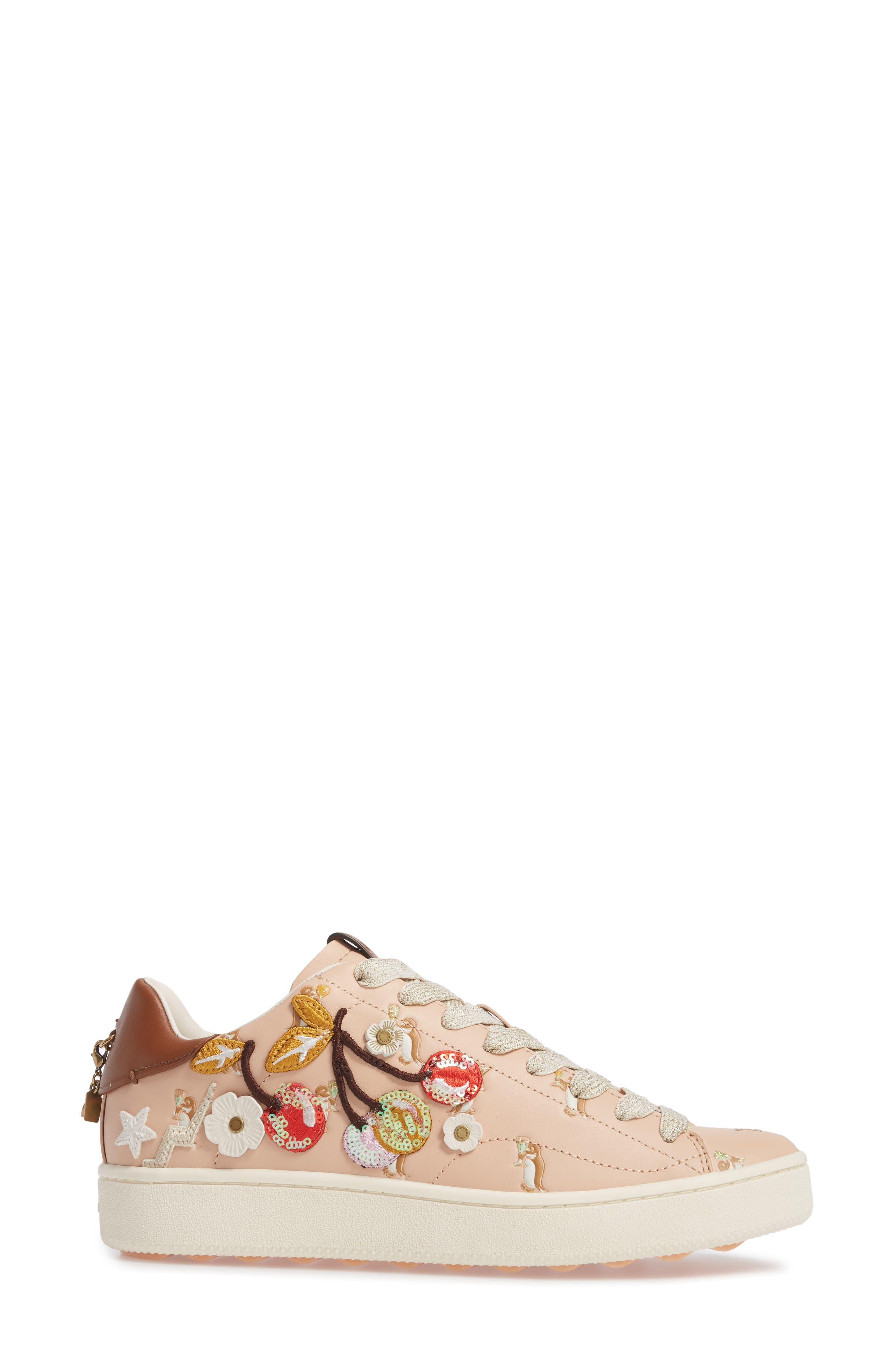 Patch Sneaker,                             Alternate thumbnail 3, color,                             650