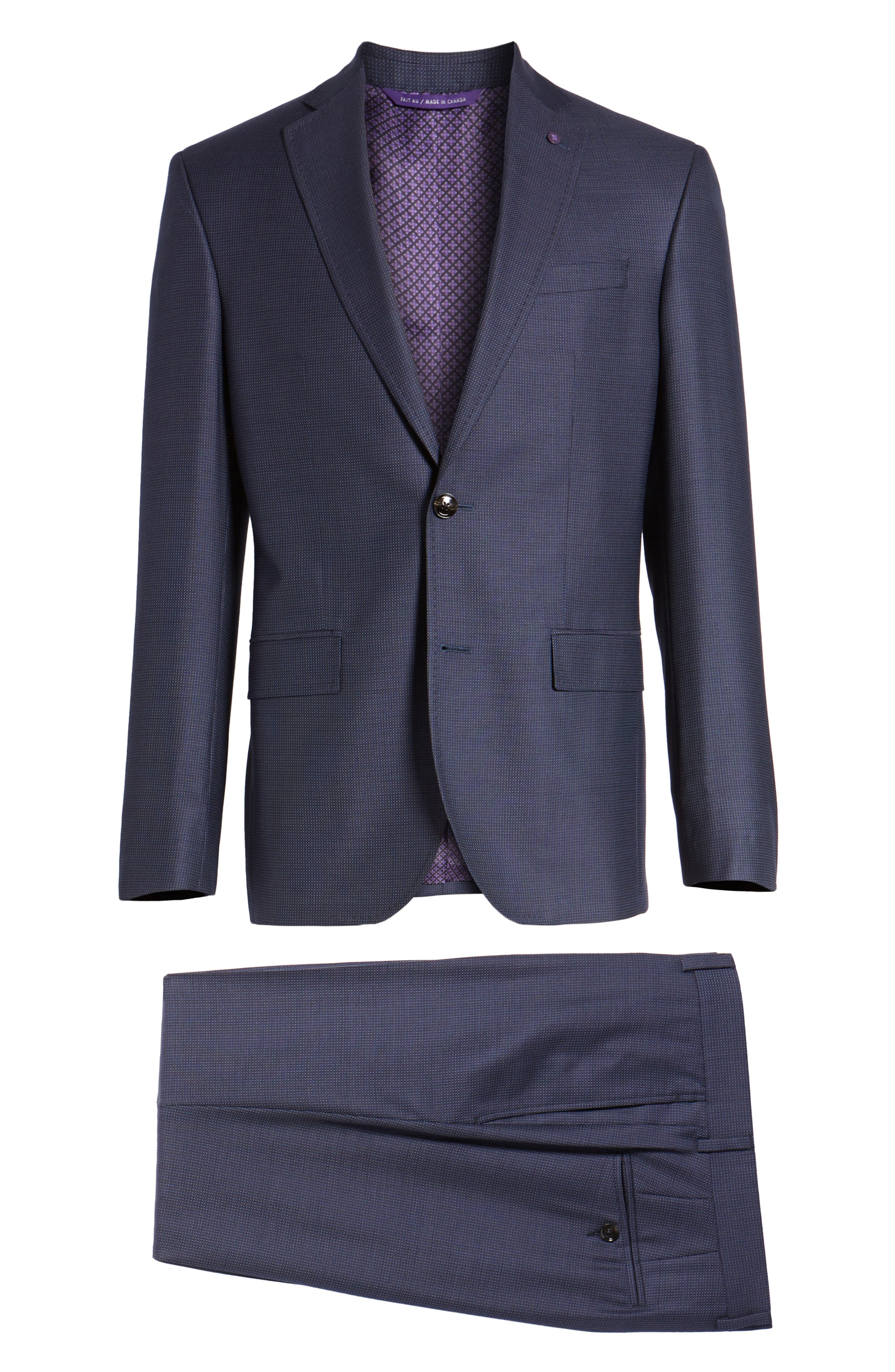 Roger Extra Slim Fit Solid Wool Suit,                             Alternate thumbnail 8, color,                             410