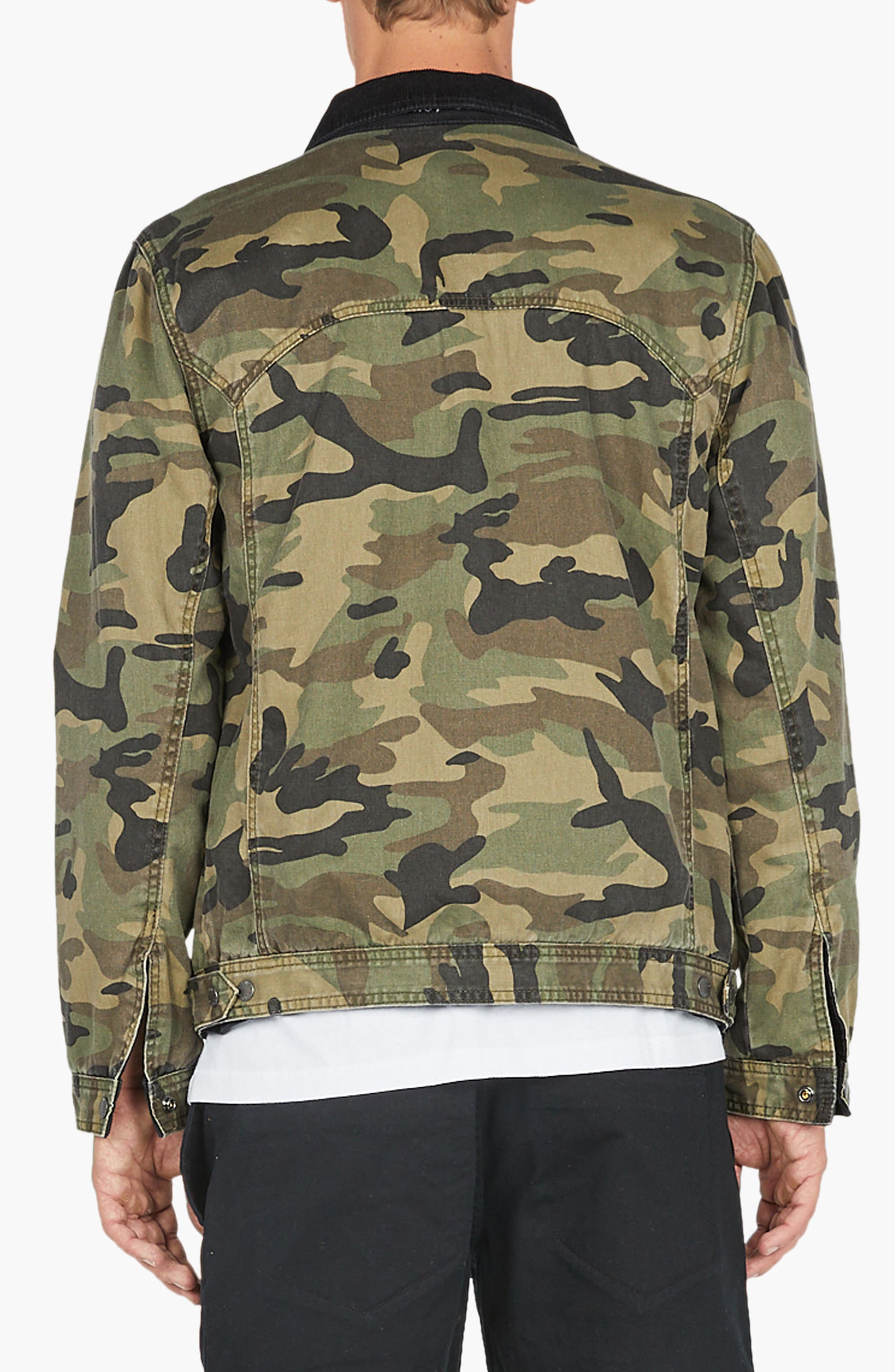 Reversible Denim Jacket,                             Alternate thumbnail 5, color,                             001