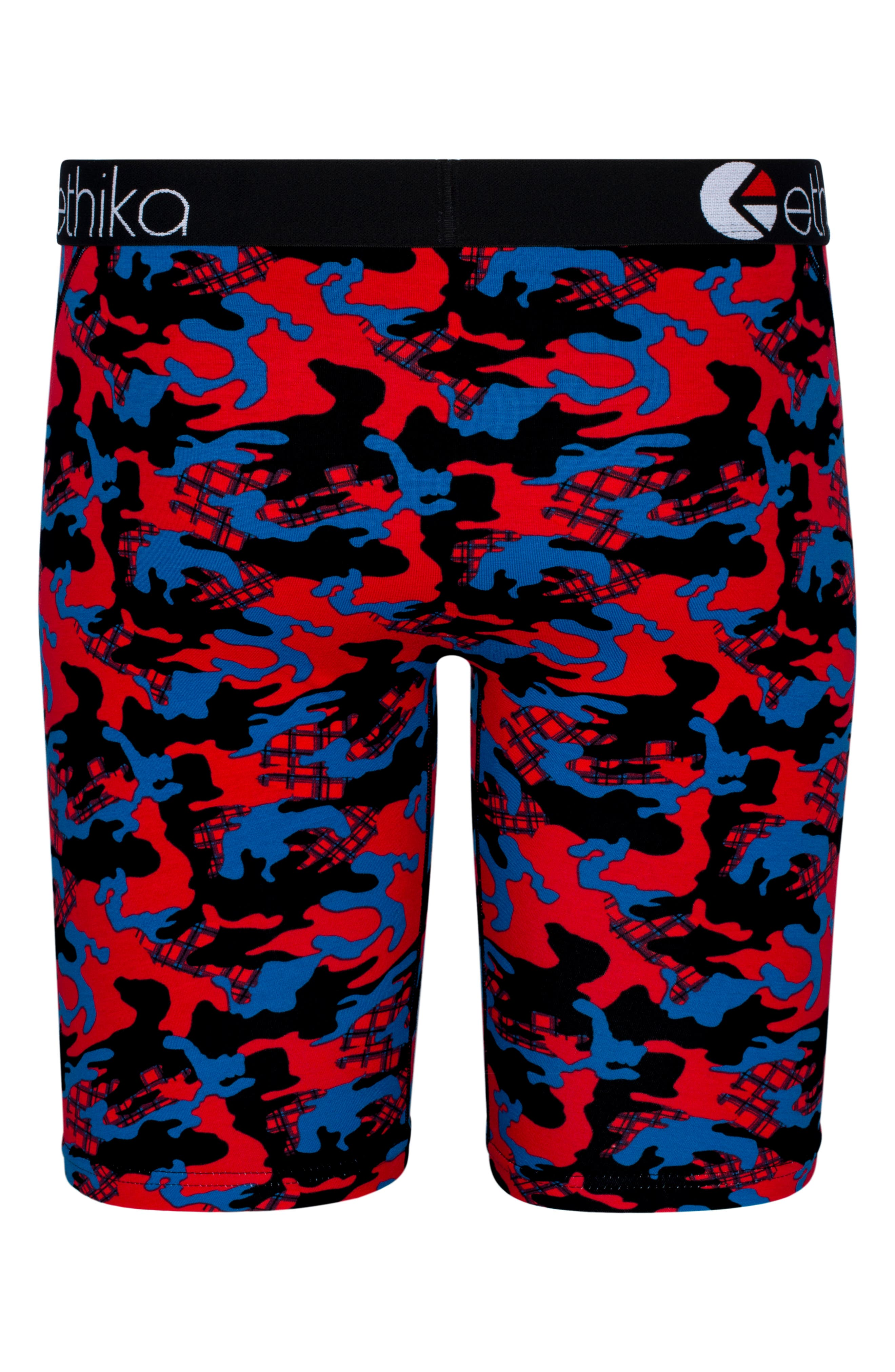 Jacks Camo Boxer Briefs,                             Alternate thumbnail 2, color,                             RED