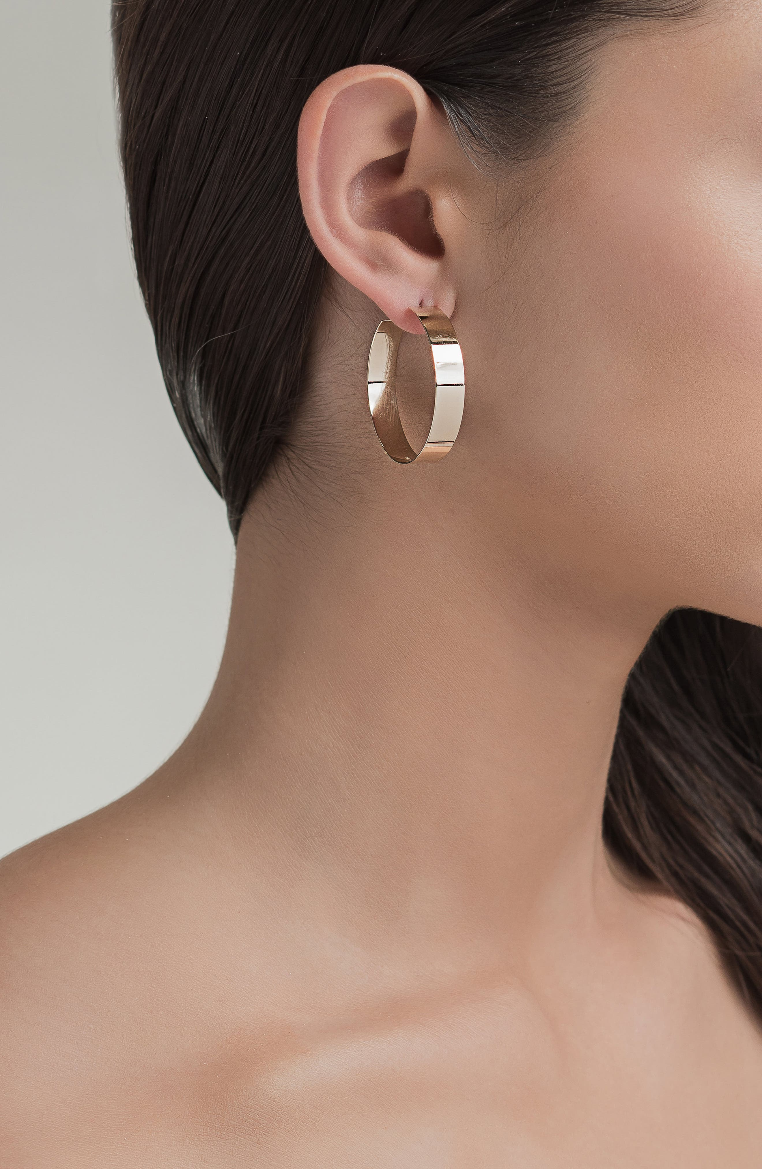 'Vanity' Small Hoop Earrings,                             Alternate thumbnail 2, color,                             YELLOW GOLD