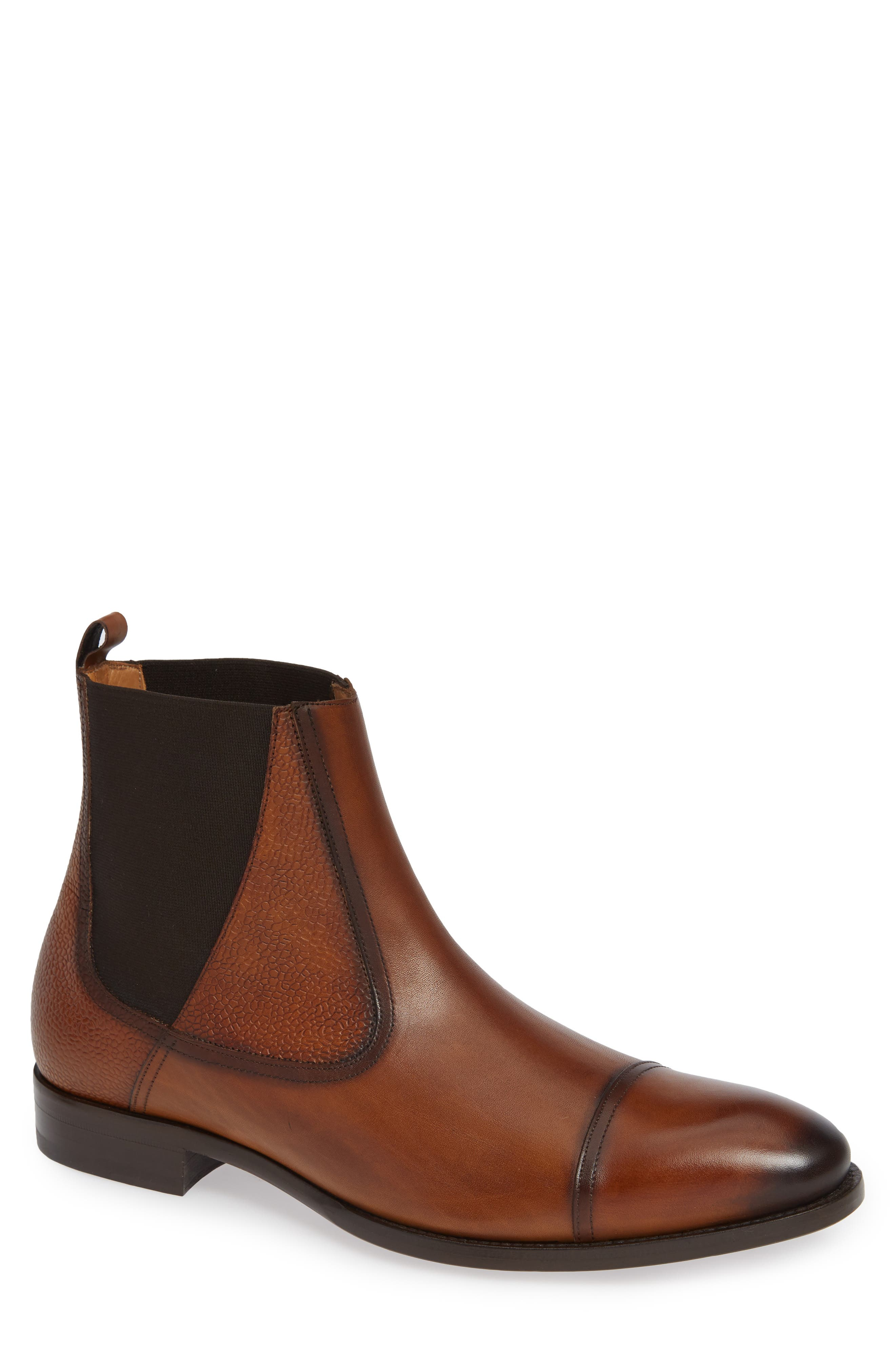Mezlan Higgins Cap Toe Chelsea Boot, Brown