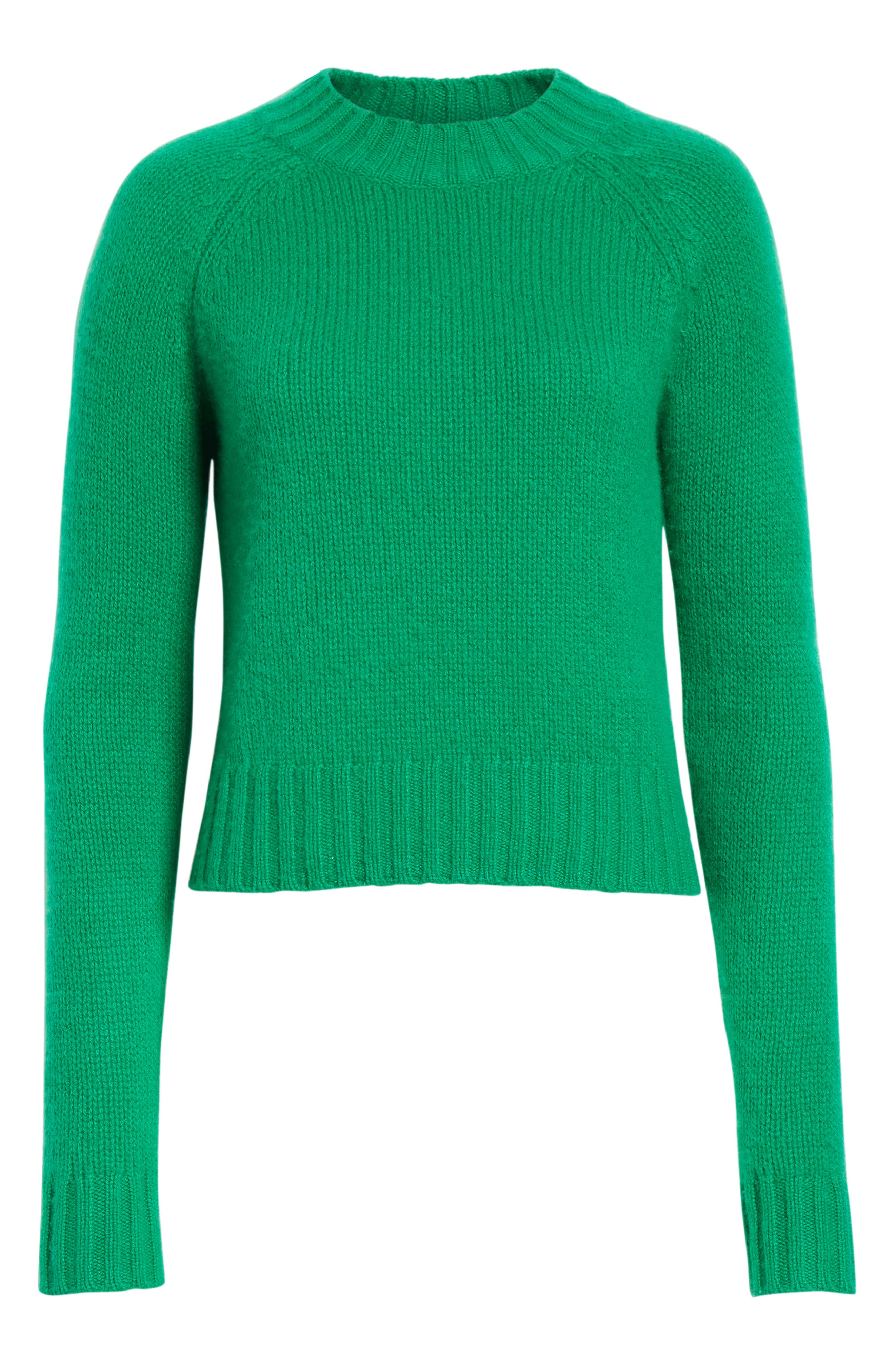 Shrunken Cashmere Sweater,                             Alternate thumbnail 6, color,                             LEAF