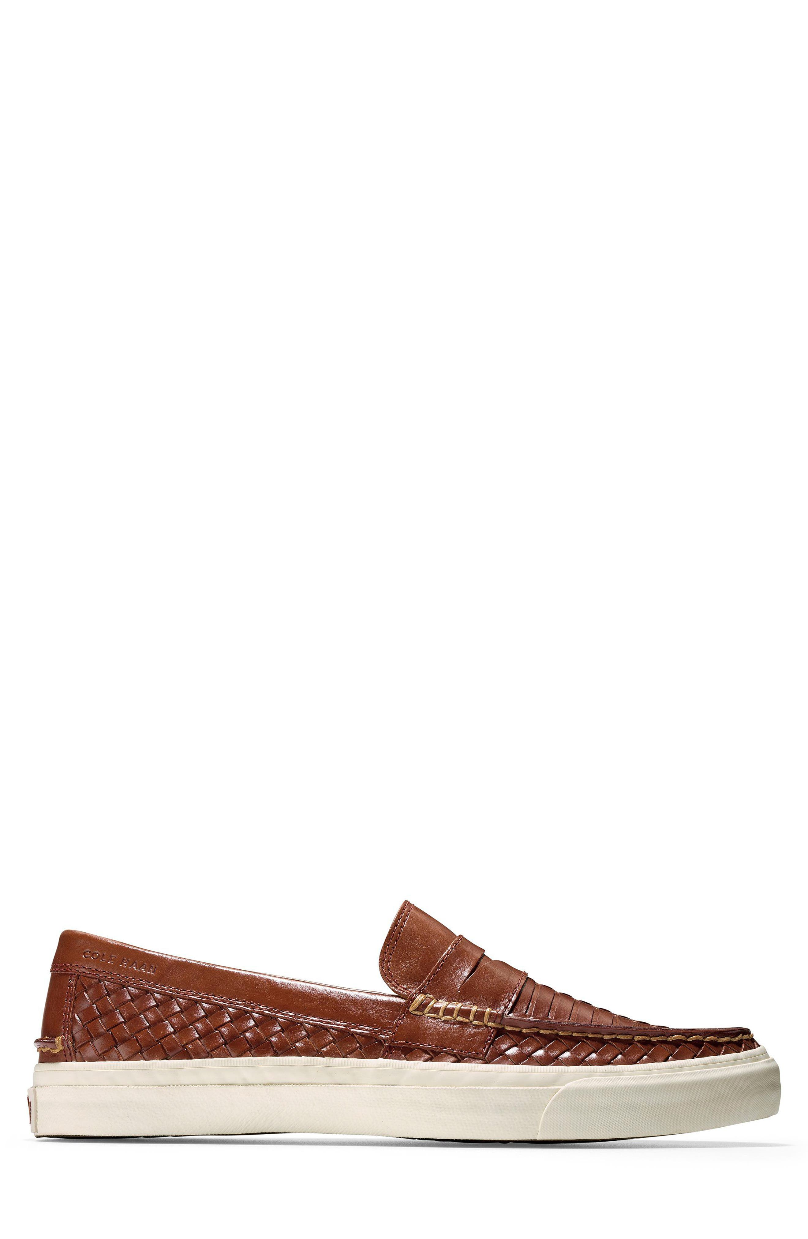 Pinch Weekend LX Huarache Loafer,                             Alternate thumbnail 3, color,                             WOODBURY WOVEN BURNISH