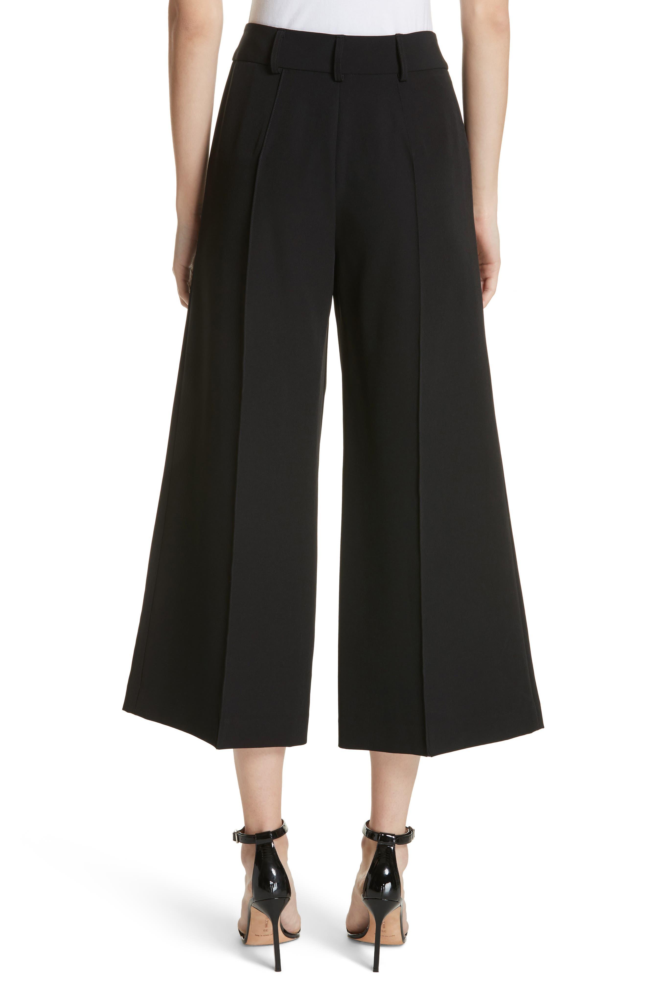 Hayden Crop Wide Leg Pants,                             Alternate thumbnail 2, color,                             BLACK