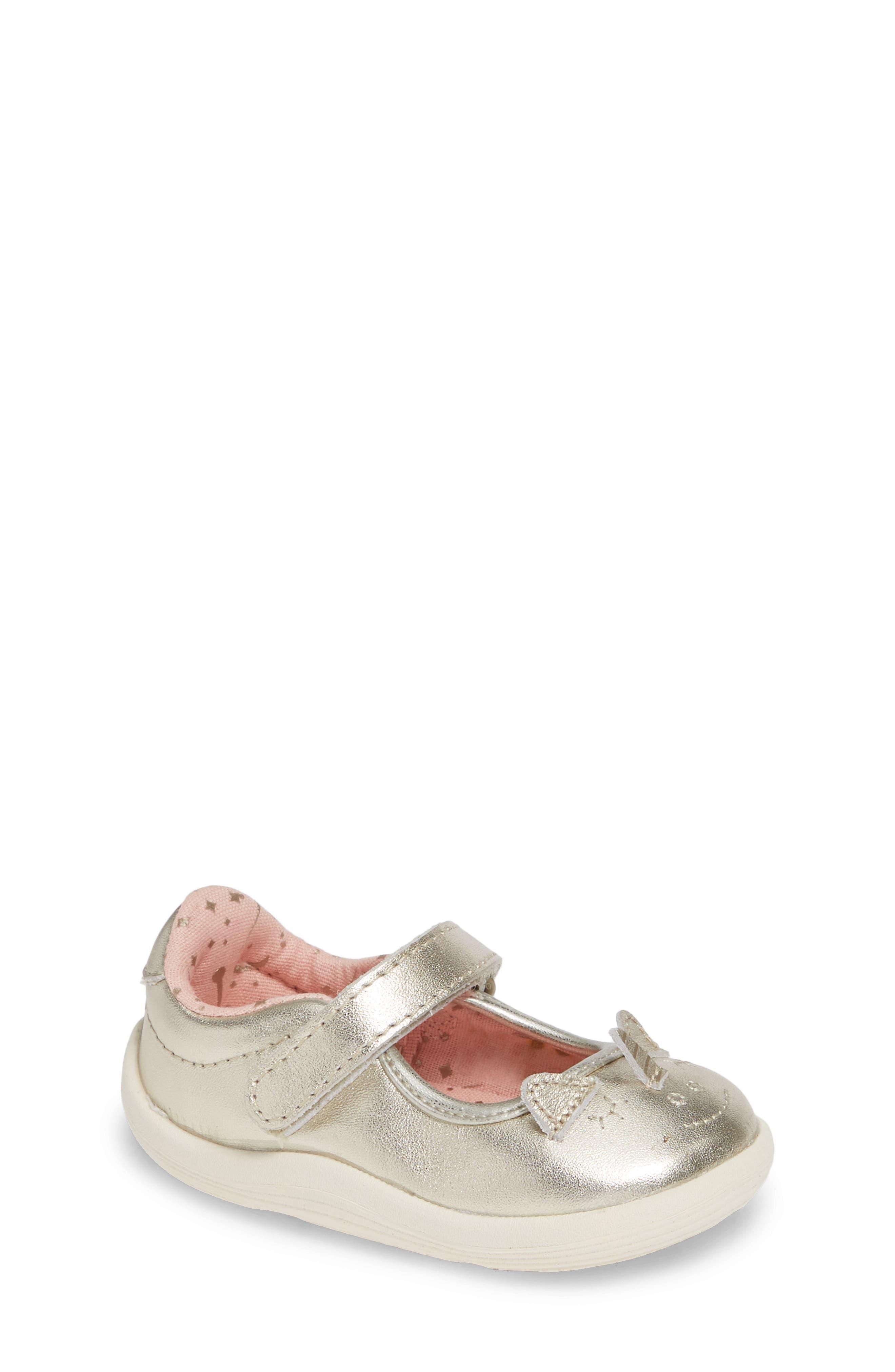 Clara Metallic Shoe,                         Main,                         color, GOLD LEATHER
