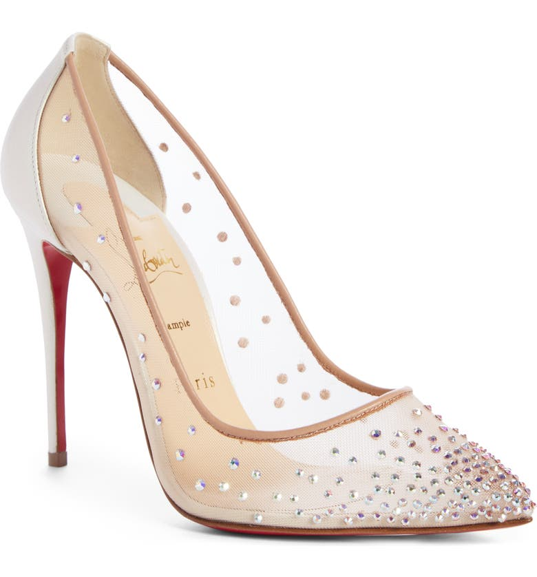Check Prices Christian Louboutin Follies Strass Pointy Toe Pump Compare & Buy