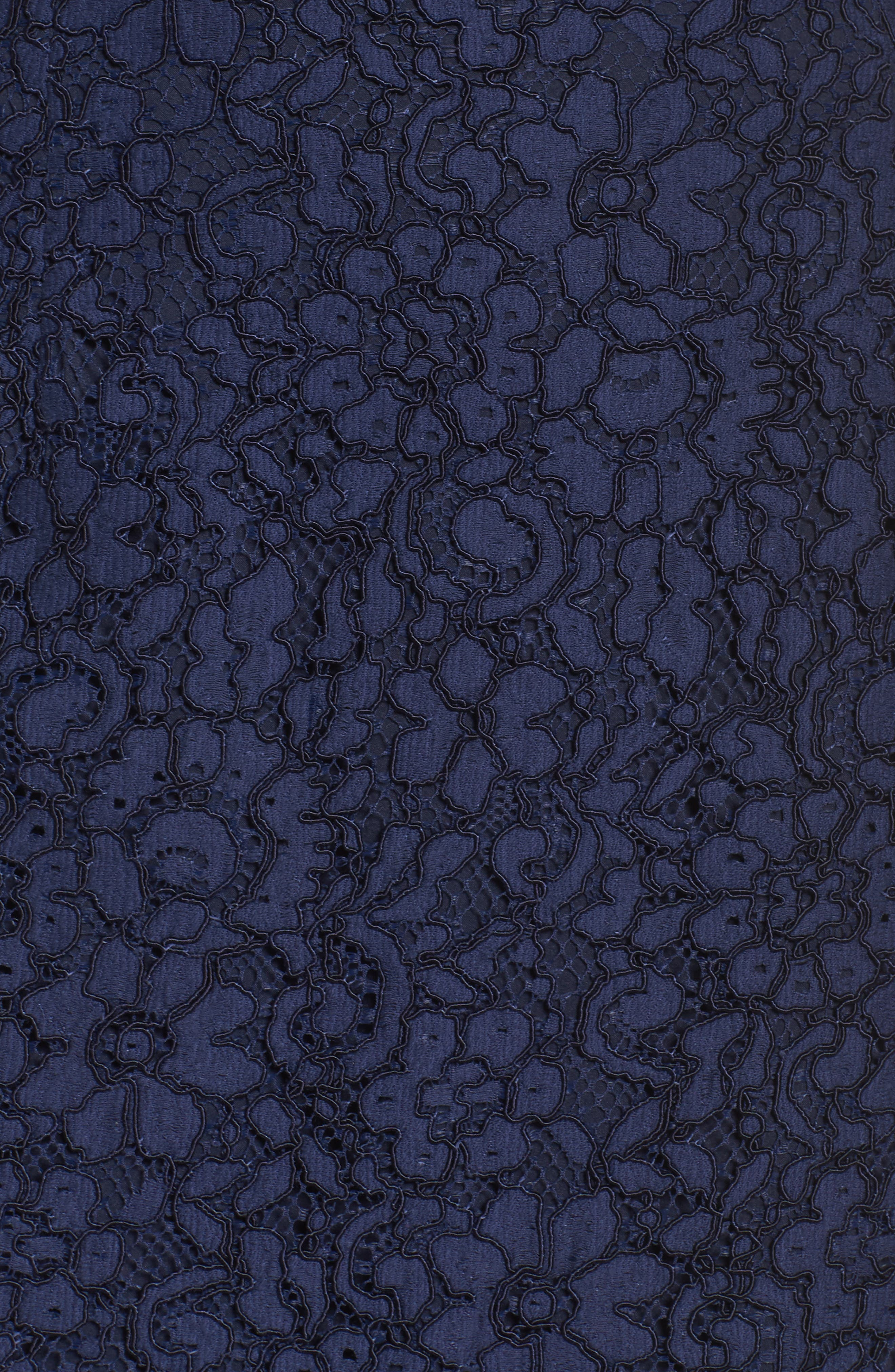 Vanowen Lace Off the Shoulder Gown,                             Alternate thumbnail 5, color,                             414