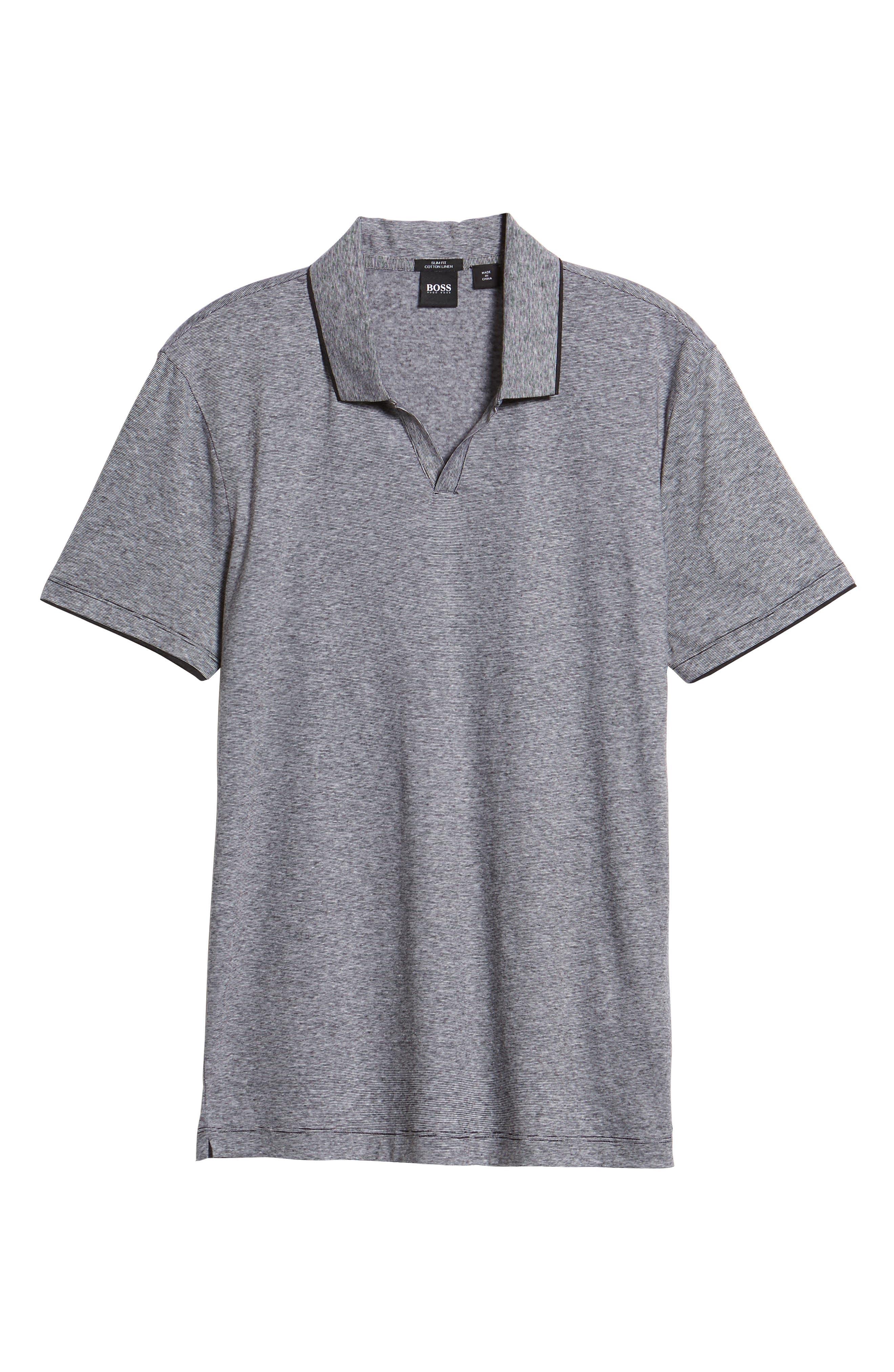 Plato Flame Polo Shirt,                             Alternate thumbnail 6, color,                             001