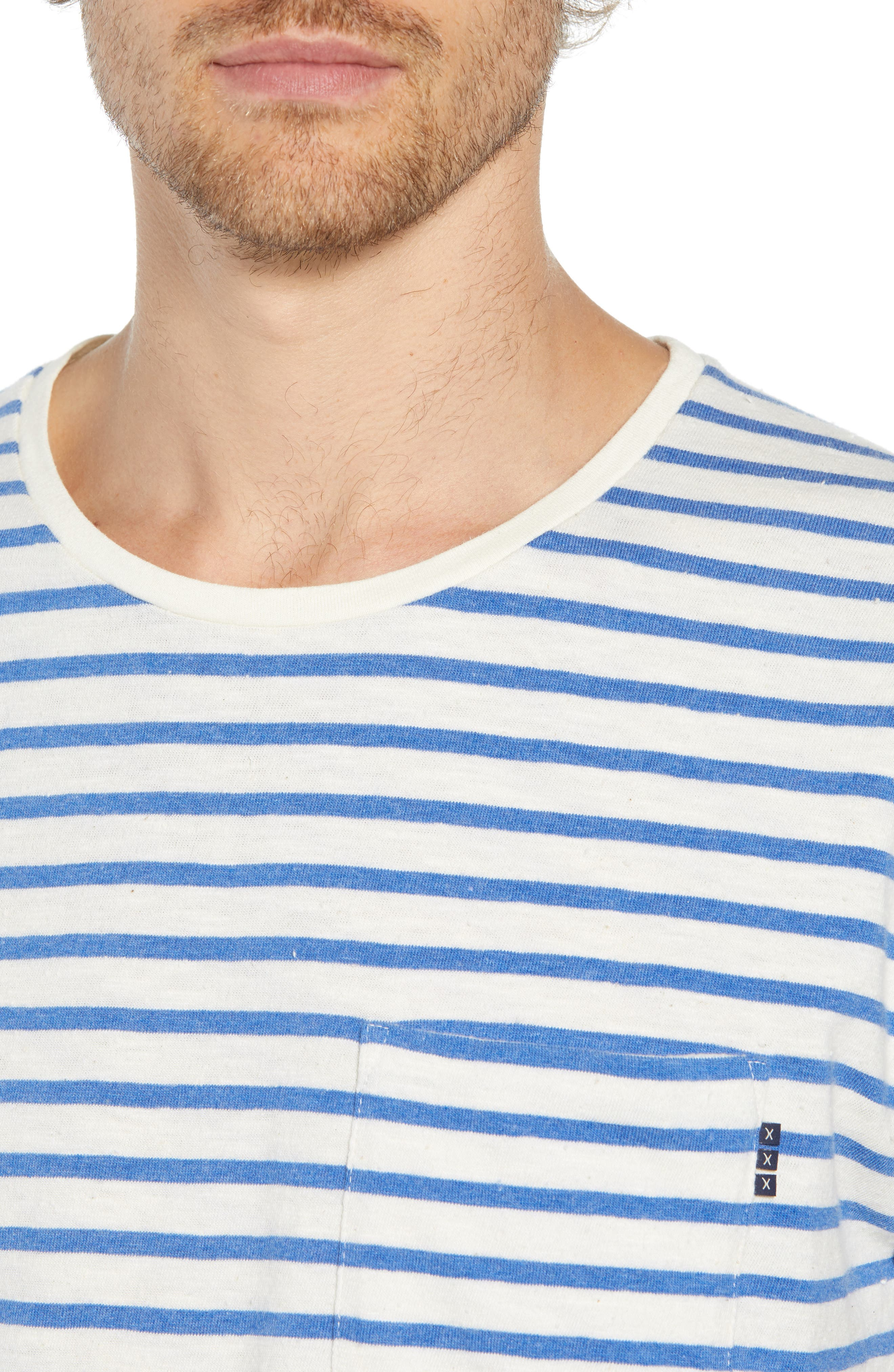 Stripe Pocket T-Shirt,                             Alternate thumbnail 4, color,                             110