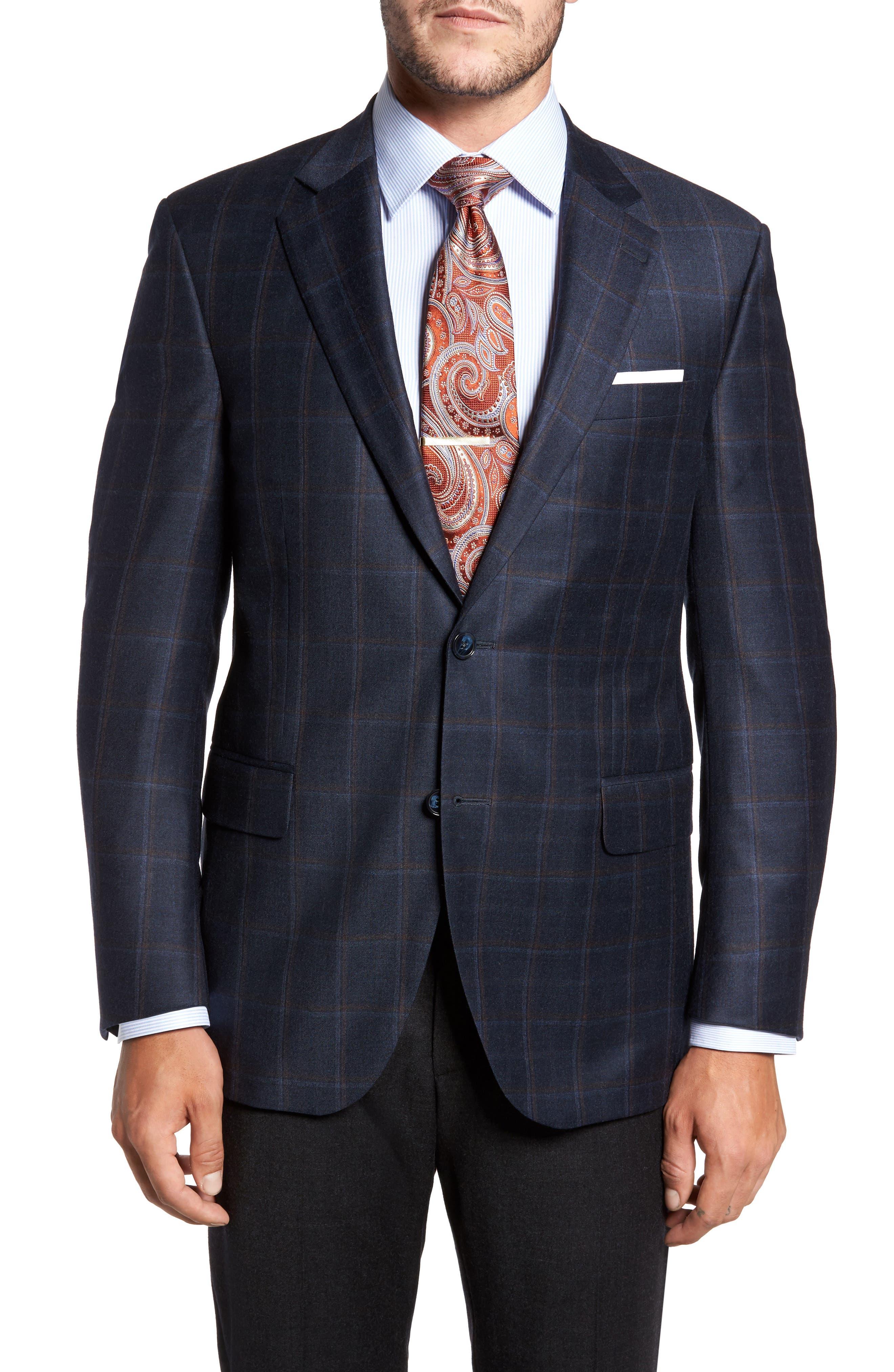 Flynn Classic Fit Plaid Wool & Cashmere Sport Coat,                             Main thumbnail 1, color,                             410