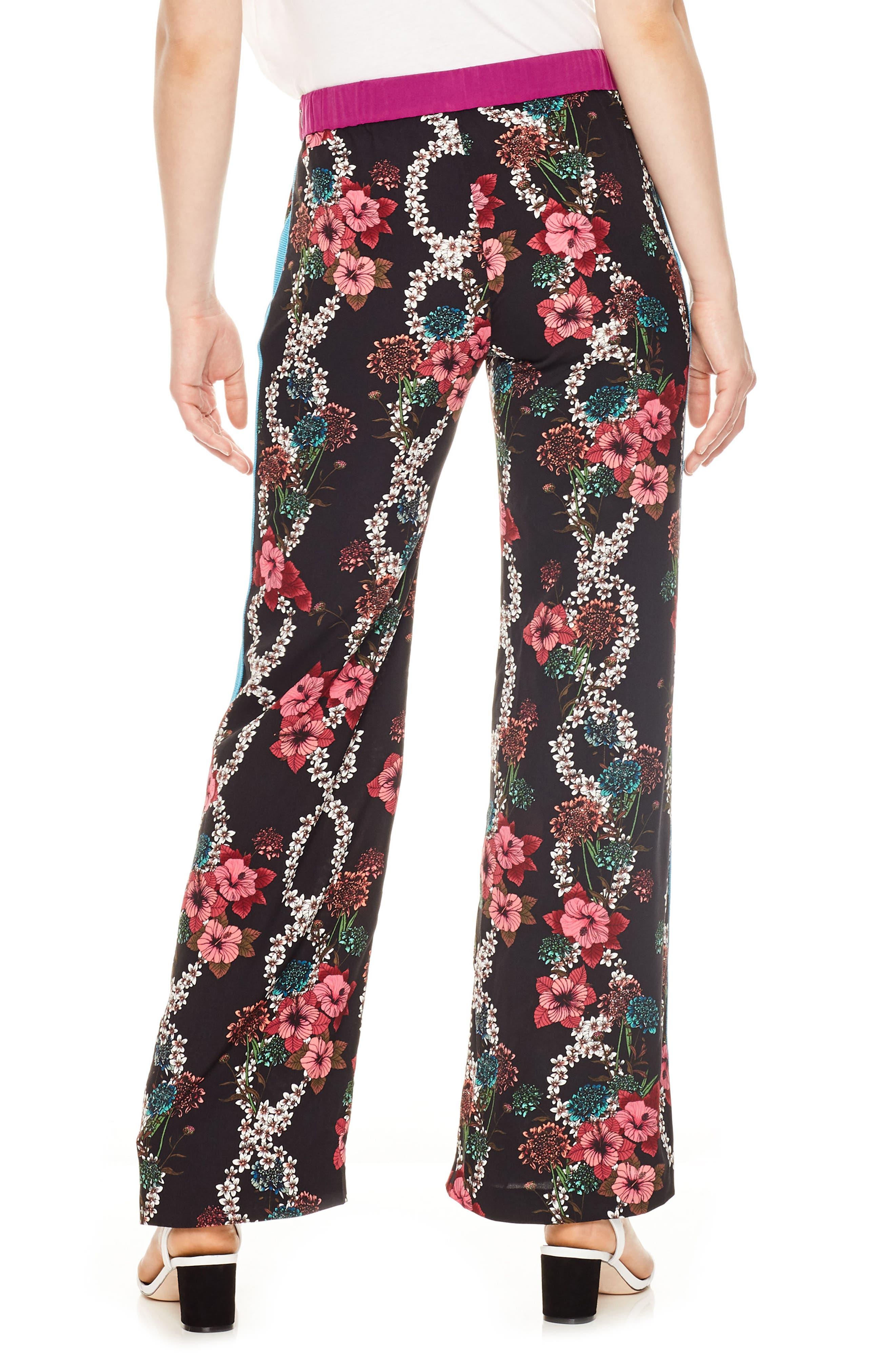 Flower Chain Tuxedo Stripe Wide Leg Pants,                             Alternate thumbnail 2, color,