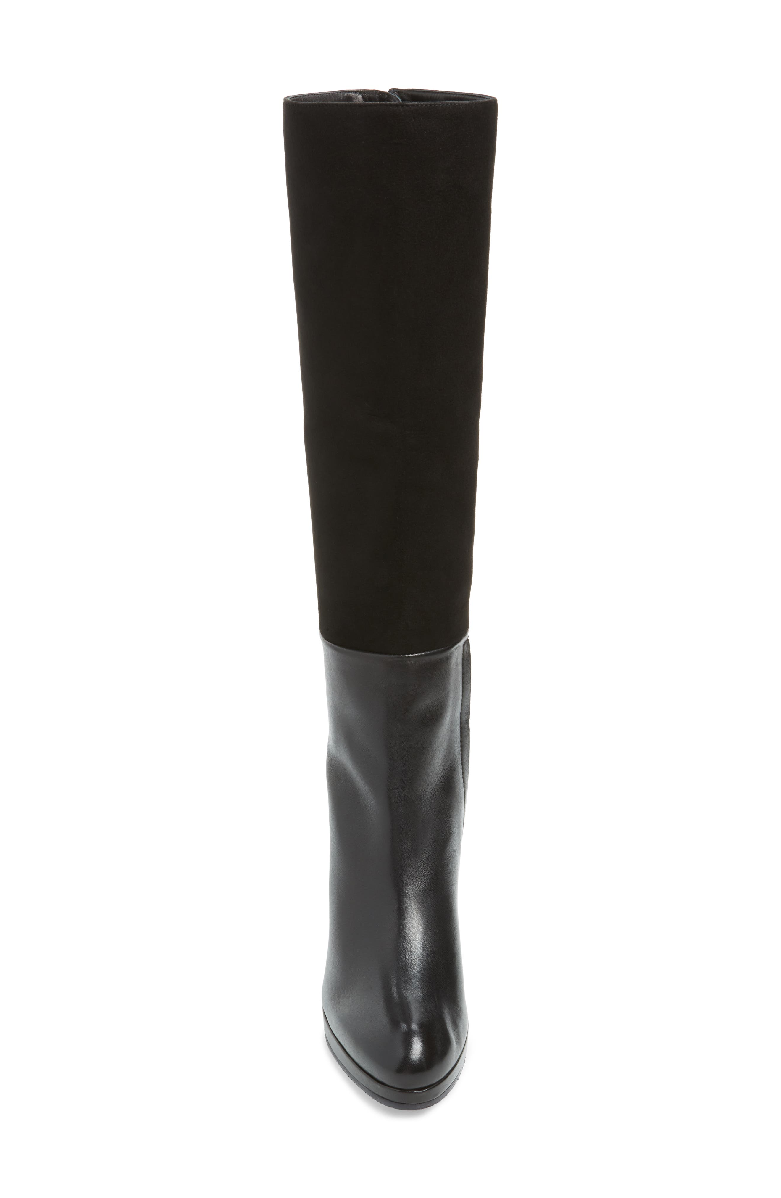 Marcella Knee High Boot,                             Alternate thumbnail 4, color,                             BLACK DOVER
