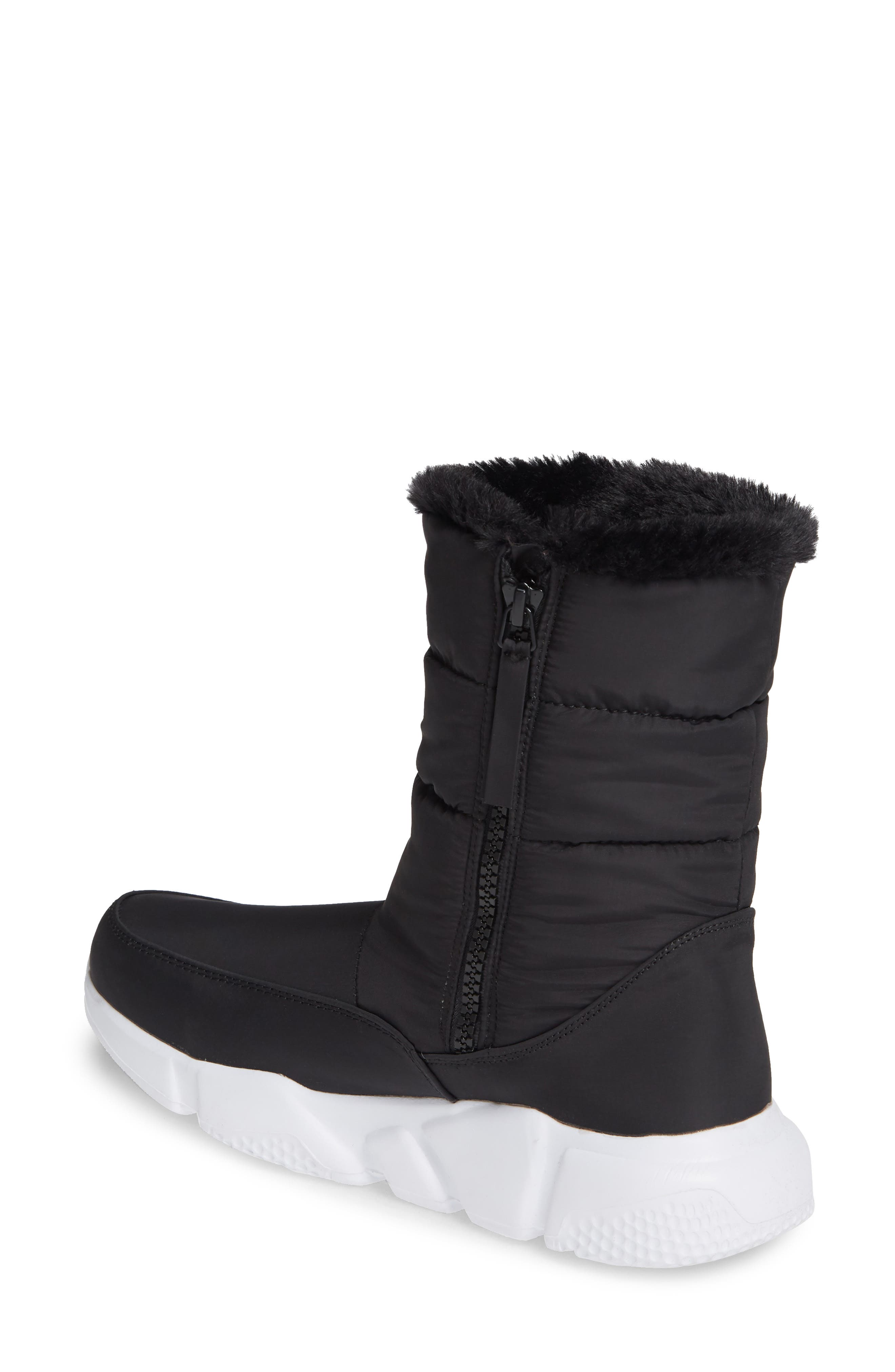 STEVE MADDEN,                             Snowday Faux Fur Lined Boot,                             Alternate thumbnail 2, color,                             BLACK